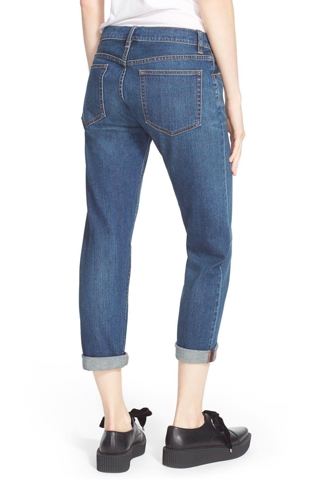 Alternate Image 2  - MARC BY MARC JACOBS Slim Crop Boyfriend Jeans (Vintage Blue)