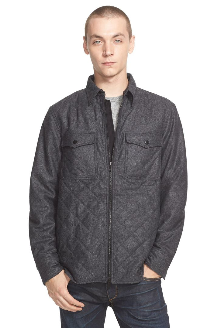 Rag Bone 39 Grant 39 Quilted Wool Blend Shirt Jacket Nordstrom