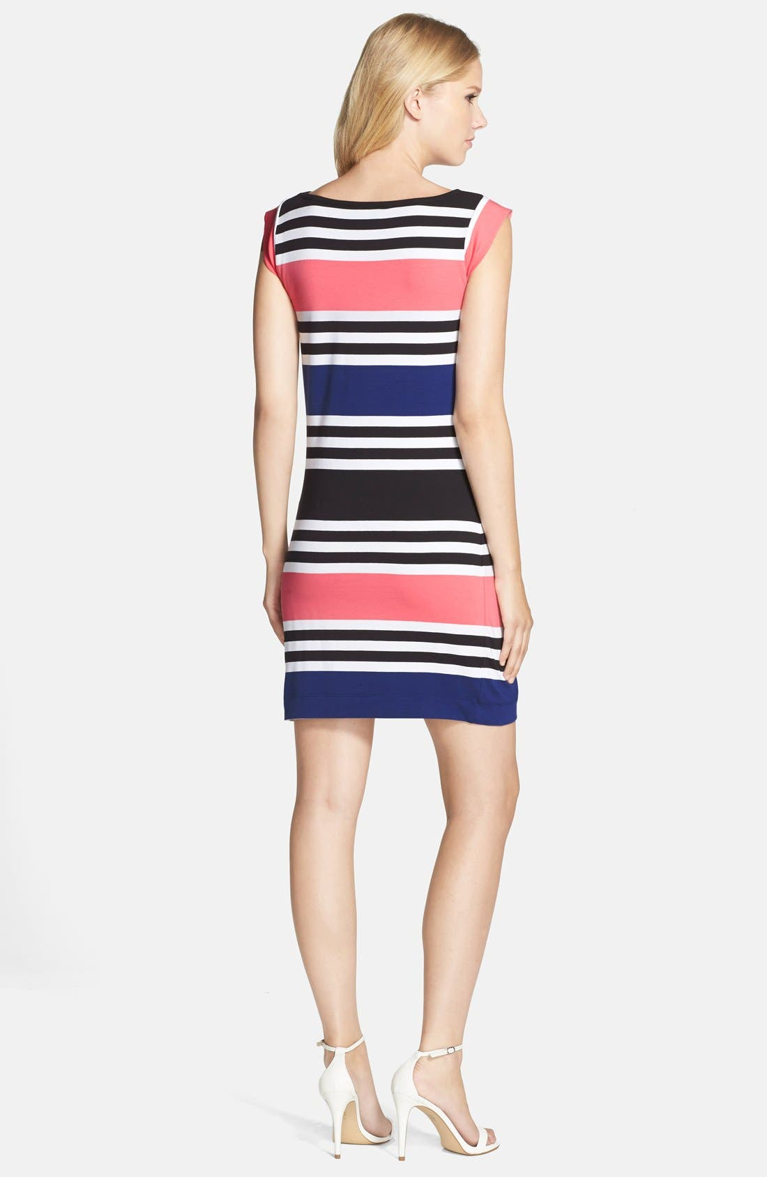 Alternate Image 2  - French Connection 'Jag' Stripe Stretch Cotton Knit Dress
