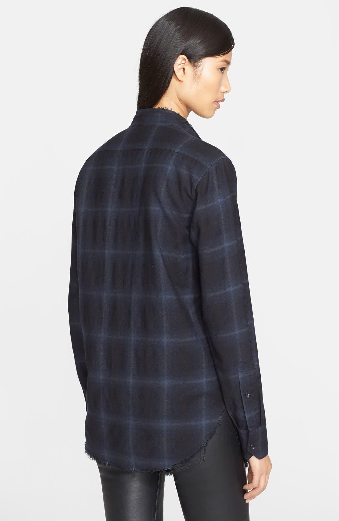 Alternate Image 2  - Helmut Lang Plaid Wool & Cashmere Flannel Shirt