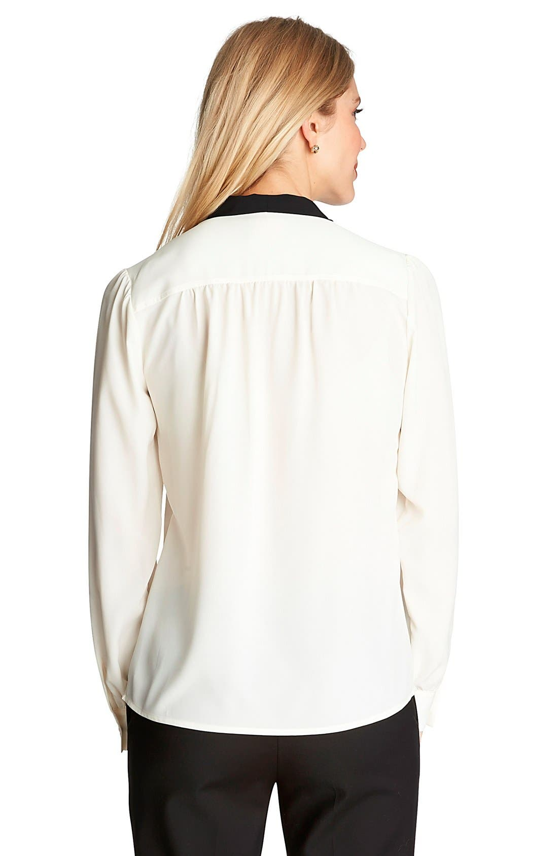 Alternate Image 2  - CeCe by Cynthia Steffe Contrast Bow Neck Blouse