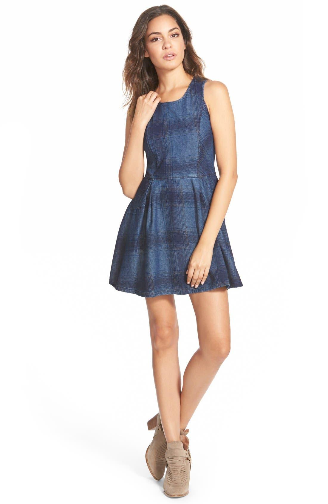 Main Image - Element 'Marisa' Plaid Skater Dress