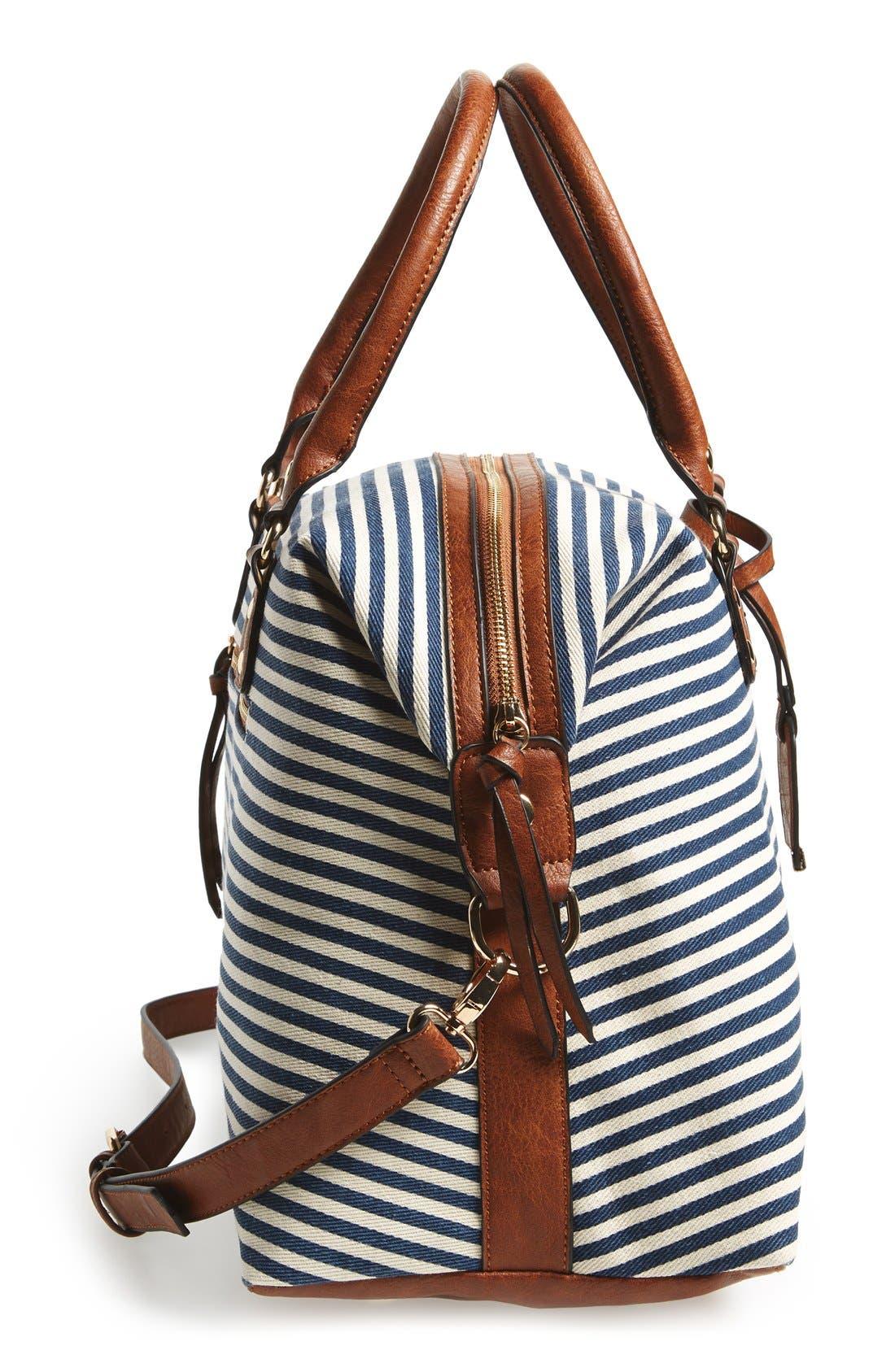 Alternate Image 5  - Sole Society 'Leighton' Stripe Duffel Bag