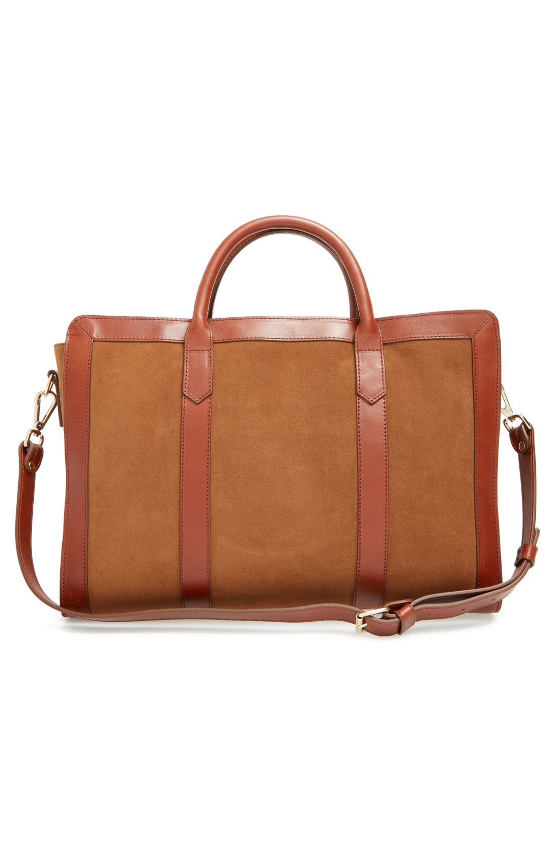 Alternate Image 3  - A.P.C. 'Lydia' Leather & Suede Satchel