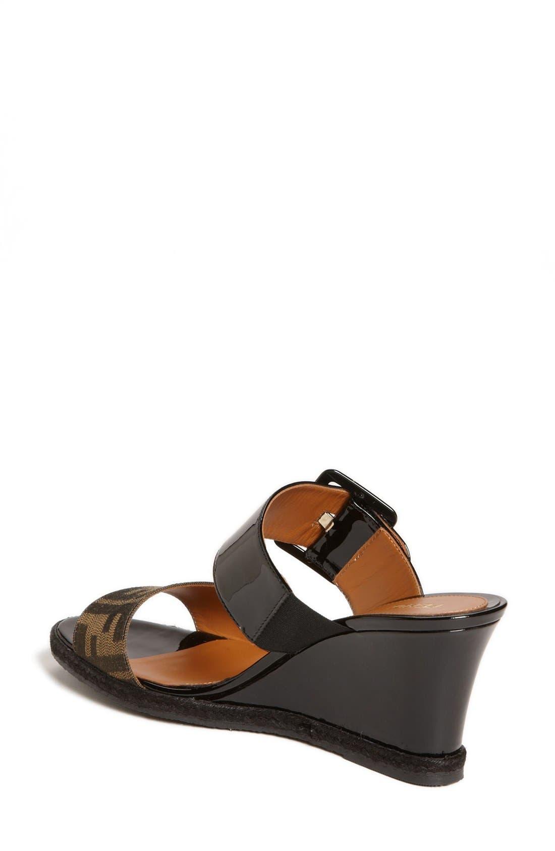 Alternate Image 5  - Fendi 'Vernis' Wedge Sandal (Women)