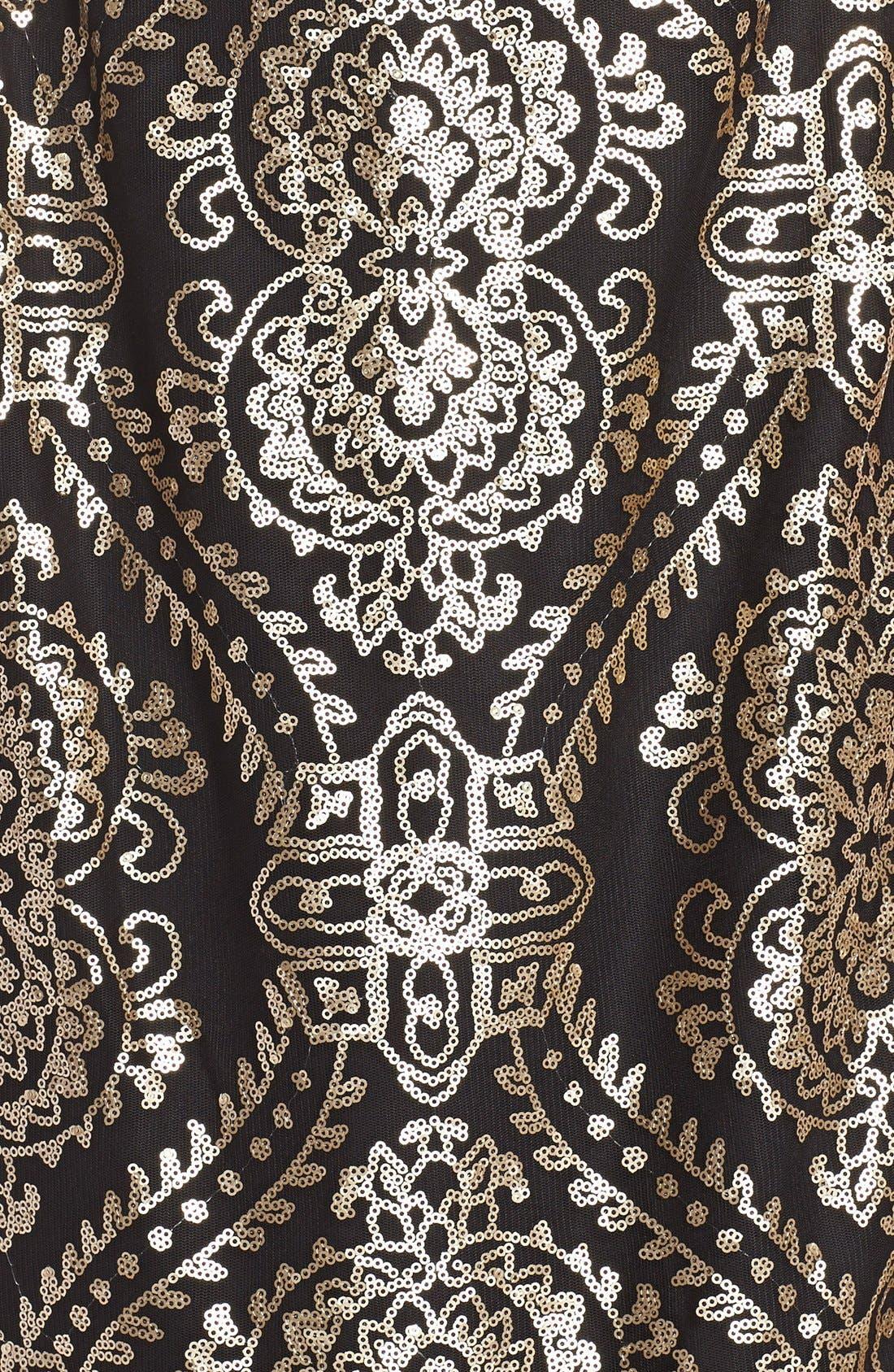 Alternate Image 3  - Donna Ricco'Medallion' Sequin Satin Sheath Dress
