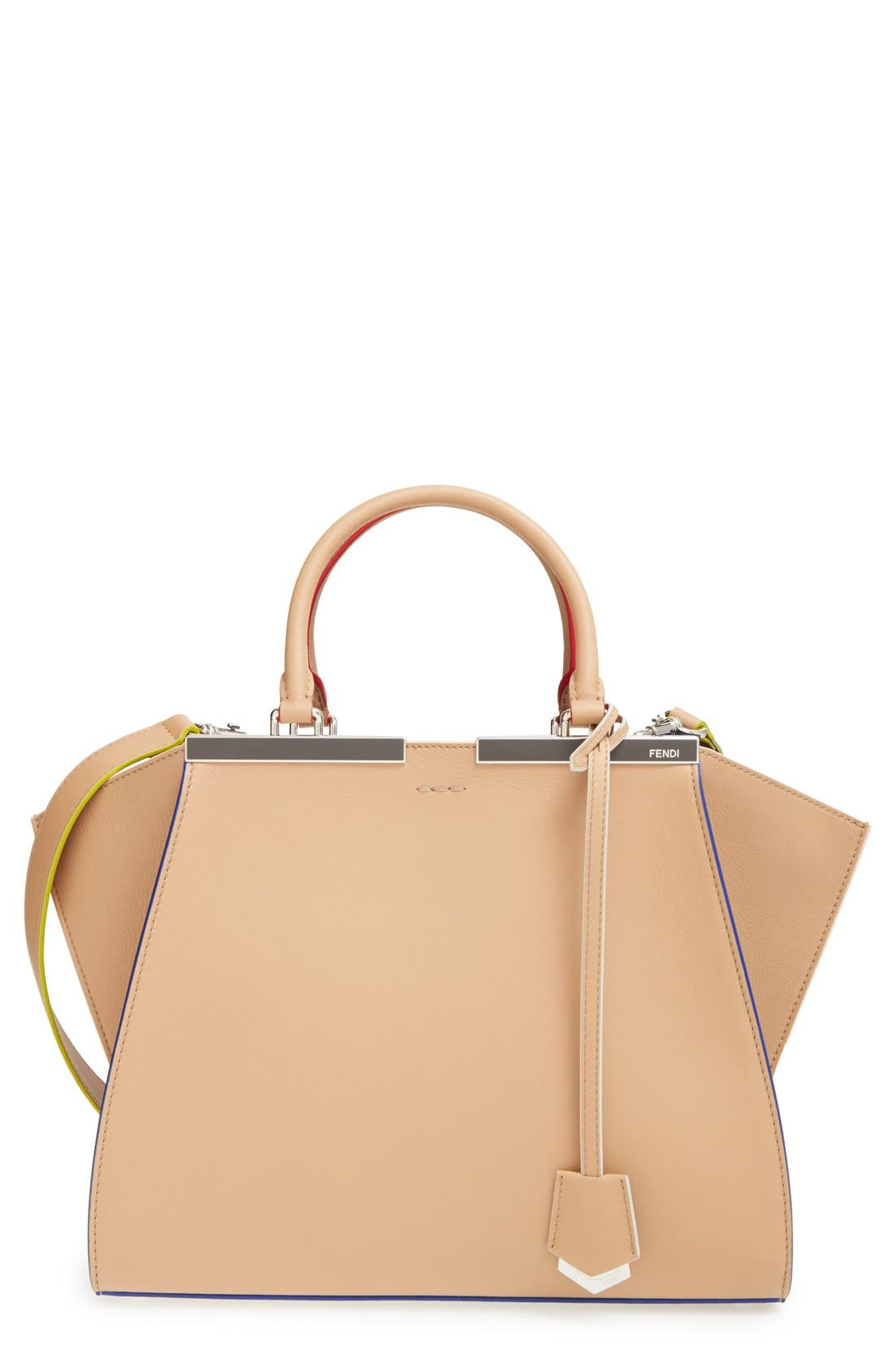 Alternate Image 1 Selected - Fendi '3Jours' Leather Shopper