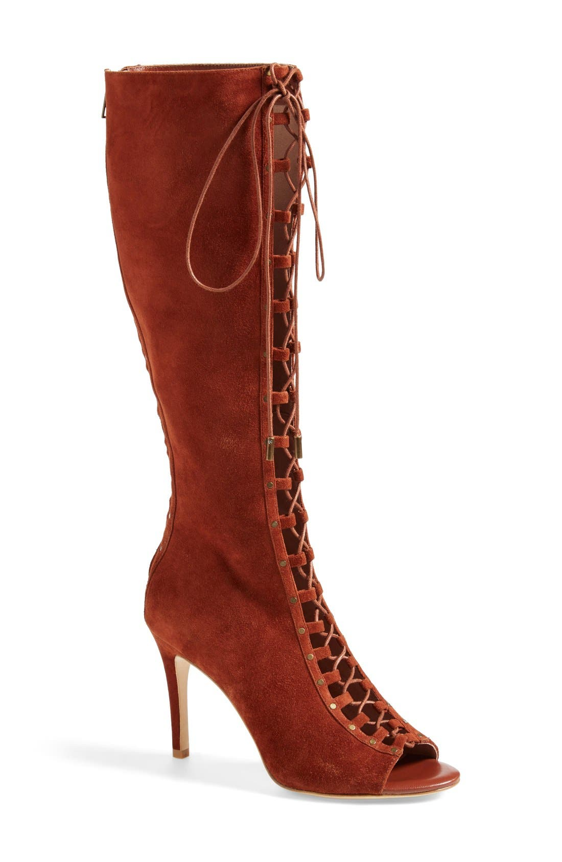 Alternate Image 1 Selected - Joie 'Aubrey' Lace-Up Tall Boot (Women)