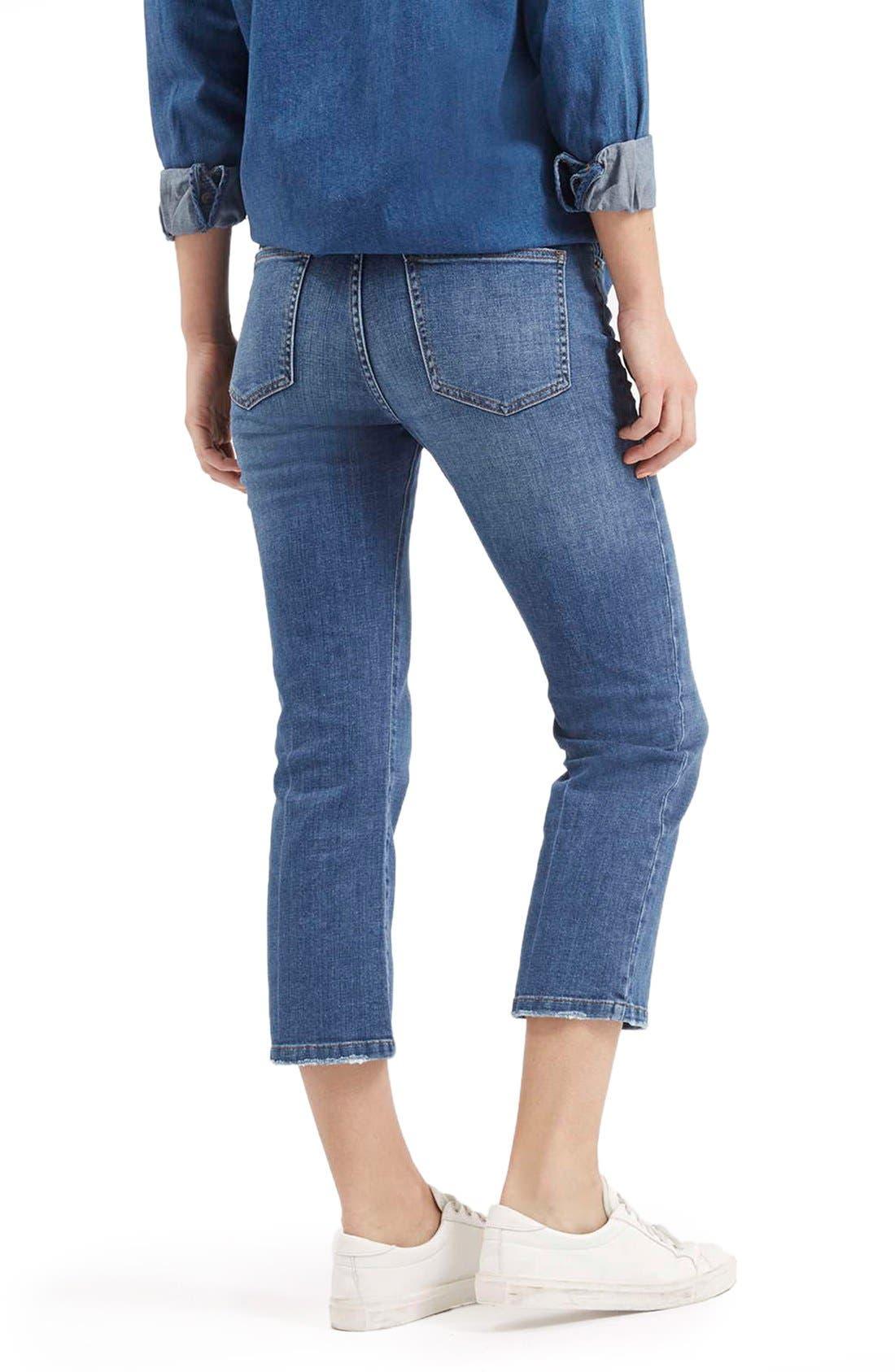 Alternate Image 5  - TopshopFlared Crop Jeans (Mid Denim) (Petite)