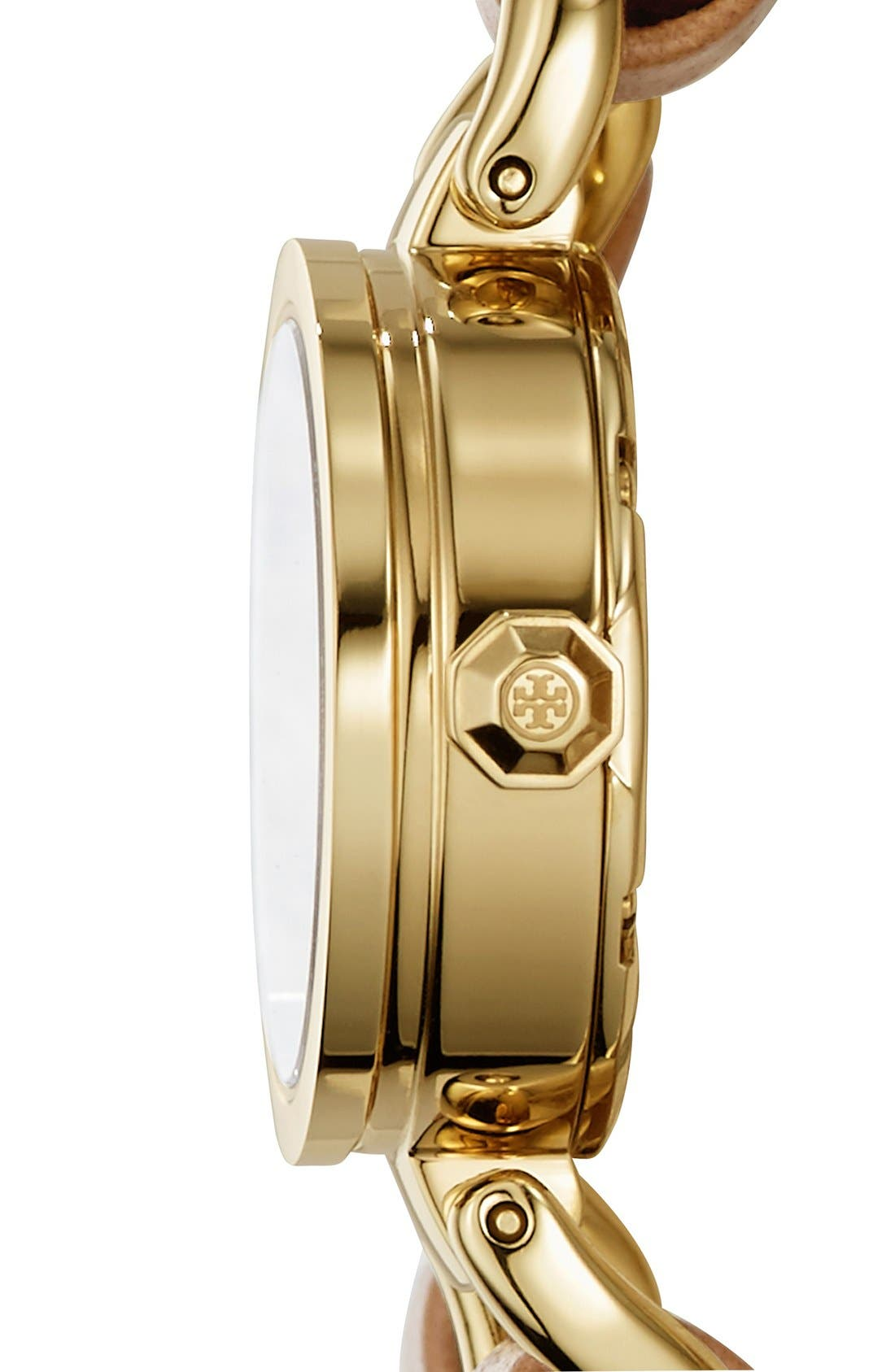 Alternate Image 2  - Tory Burch 'Mini Reva' Double Wrap Chain Watch, 20mm