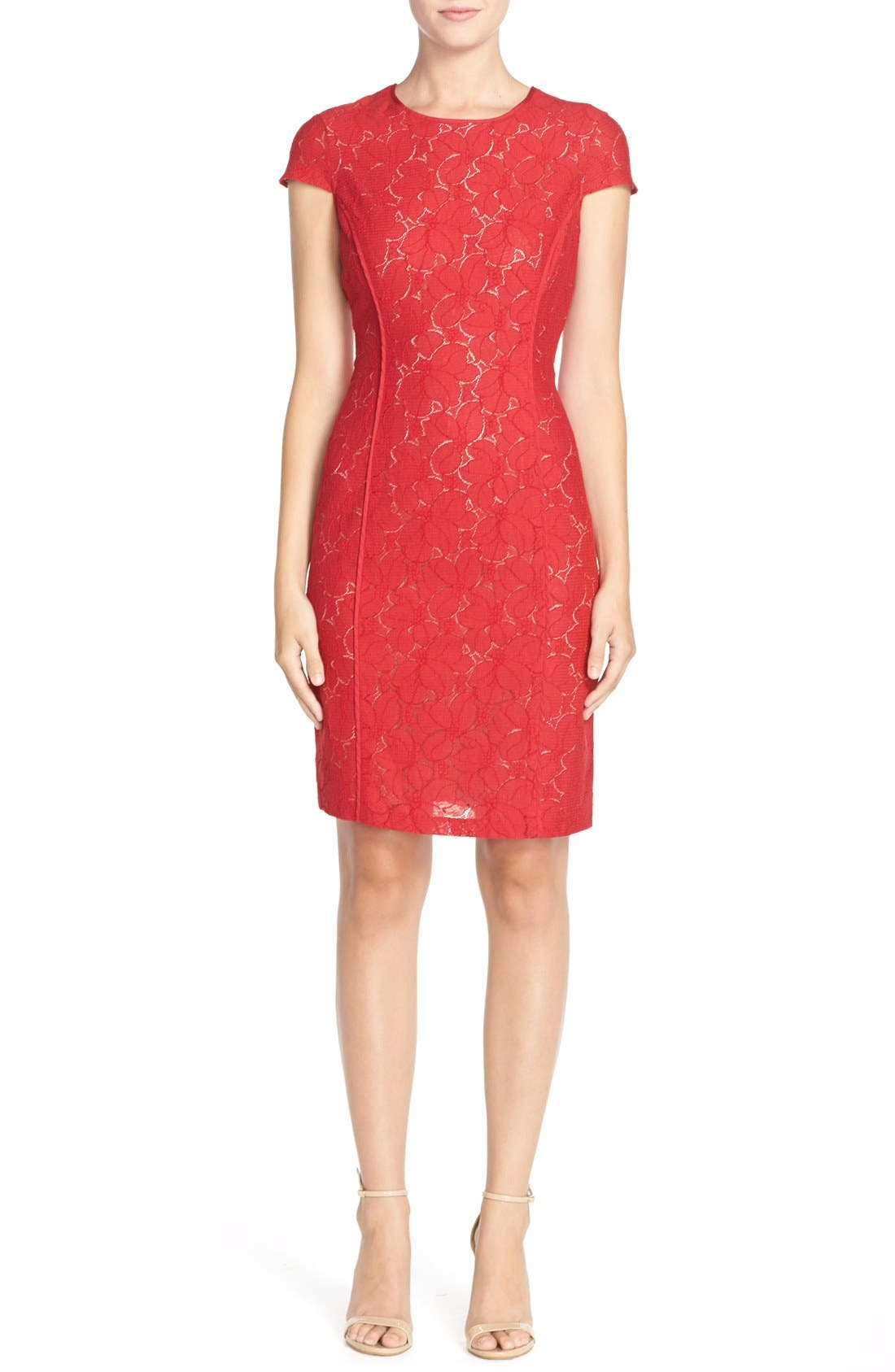 Alternate Image 3  - Marc New York Lace Sheath Dress
