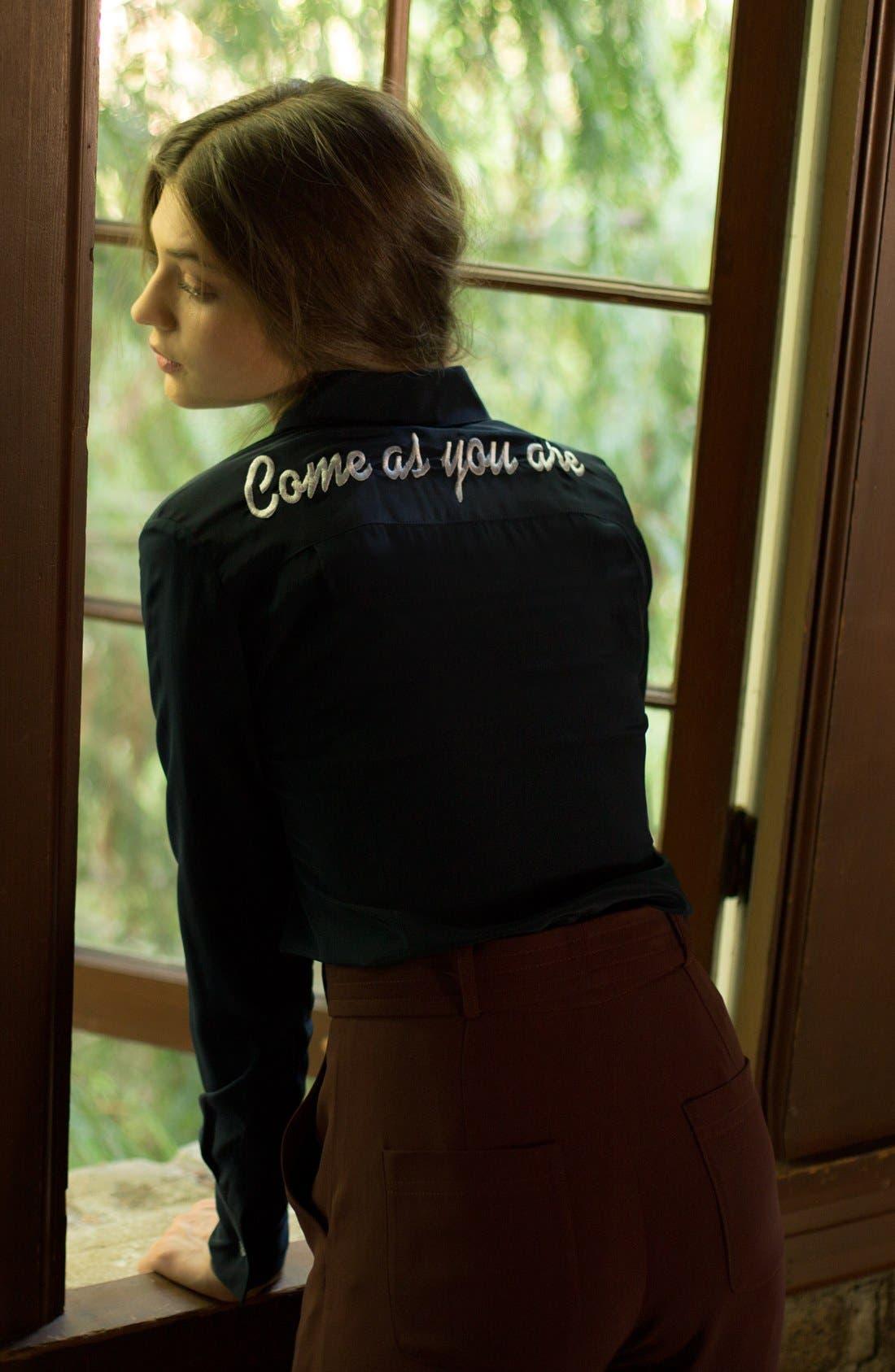 Alternate Image 4  - DRESSHIRT'Come As You Are' Silk Shirt (Women)
