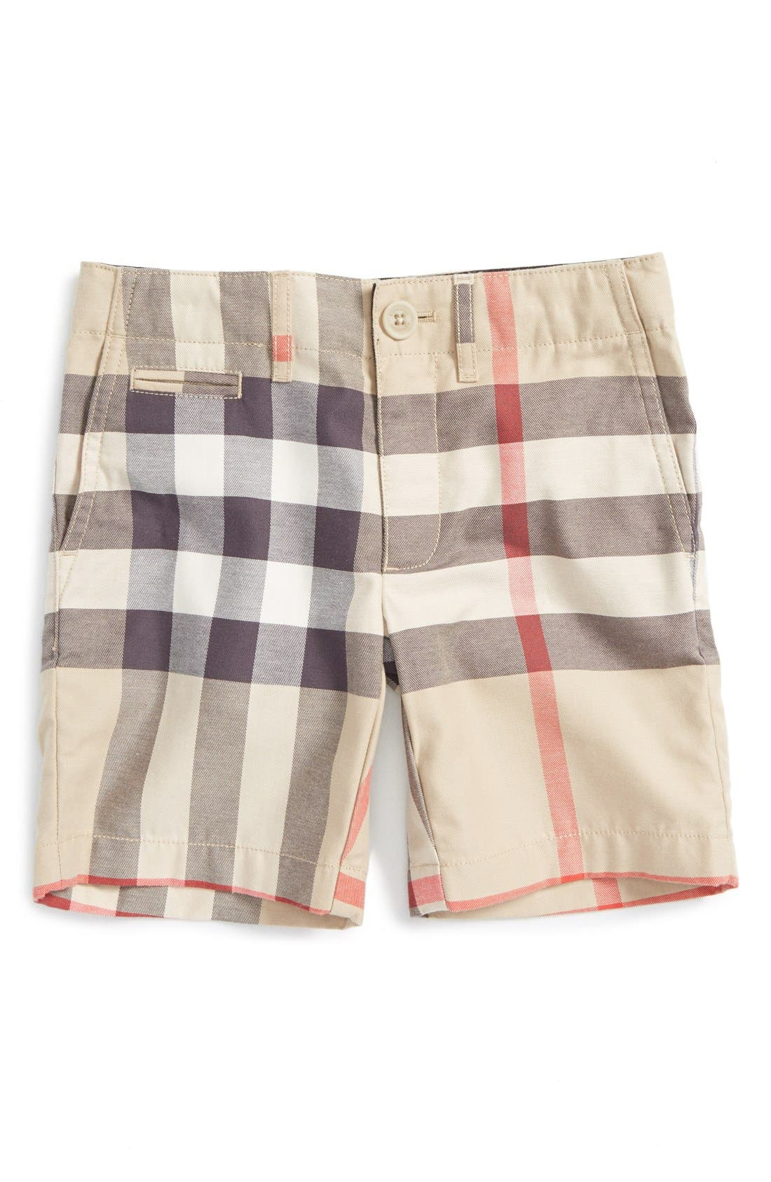 BURBERRY 'Tristen' Check Pattern Shorts