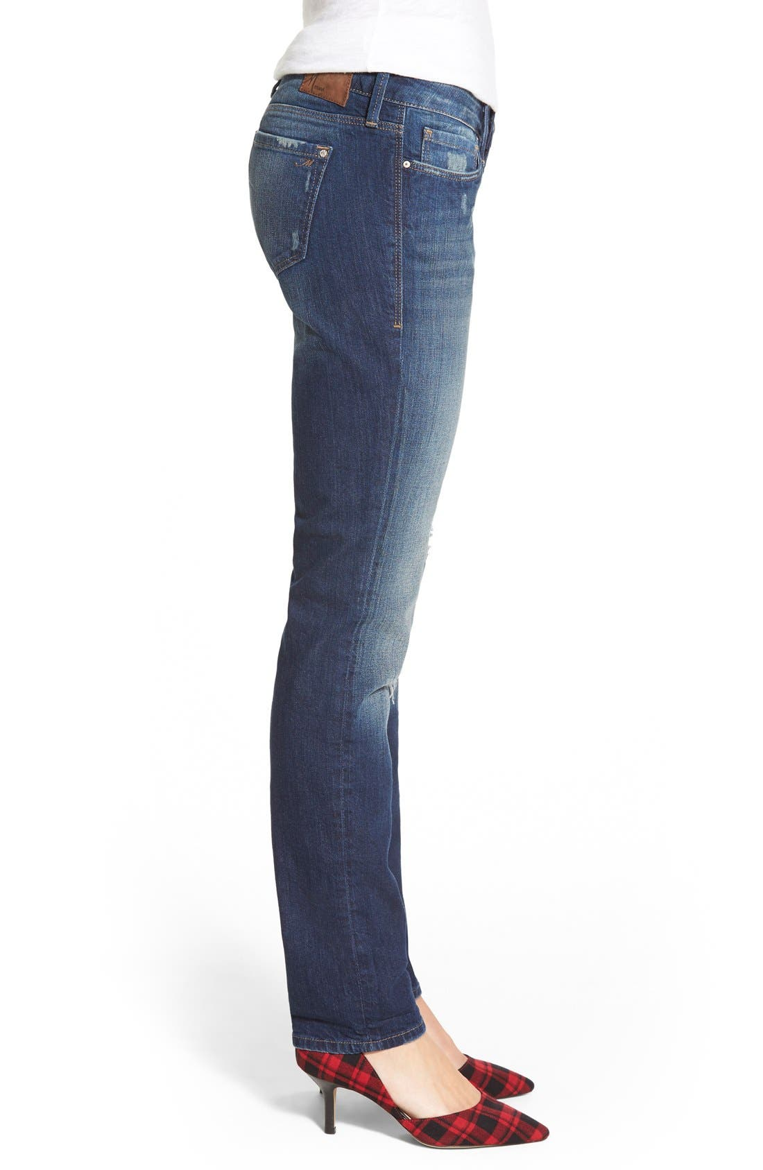 Alternate Image 3  - Mavi Jeans 'Emma' Stretch Slim Boyfriend Jeans (Dark Ripped Authentic)
