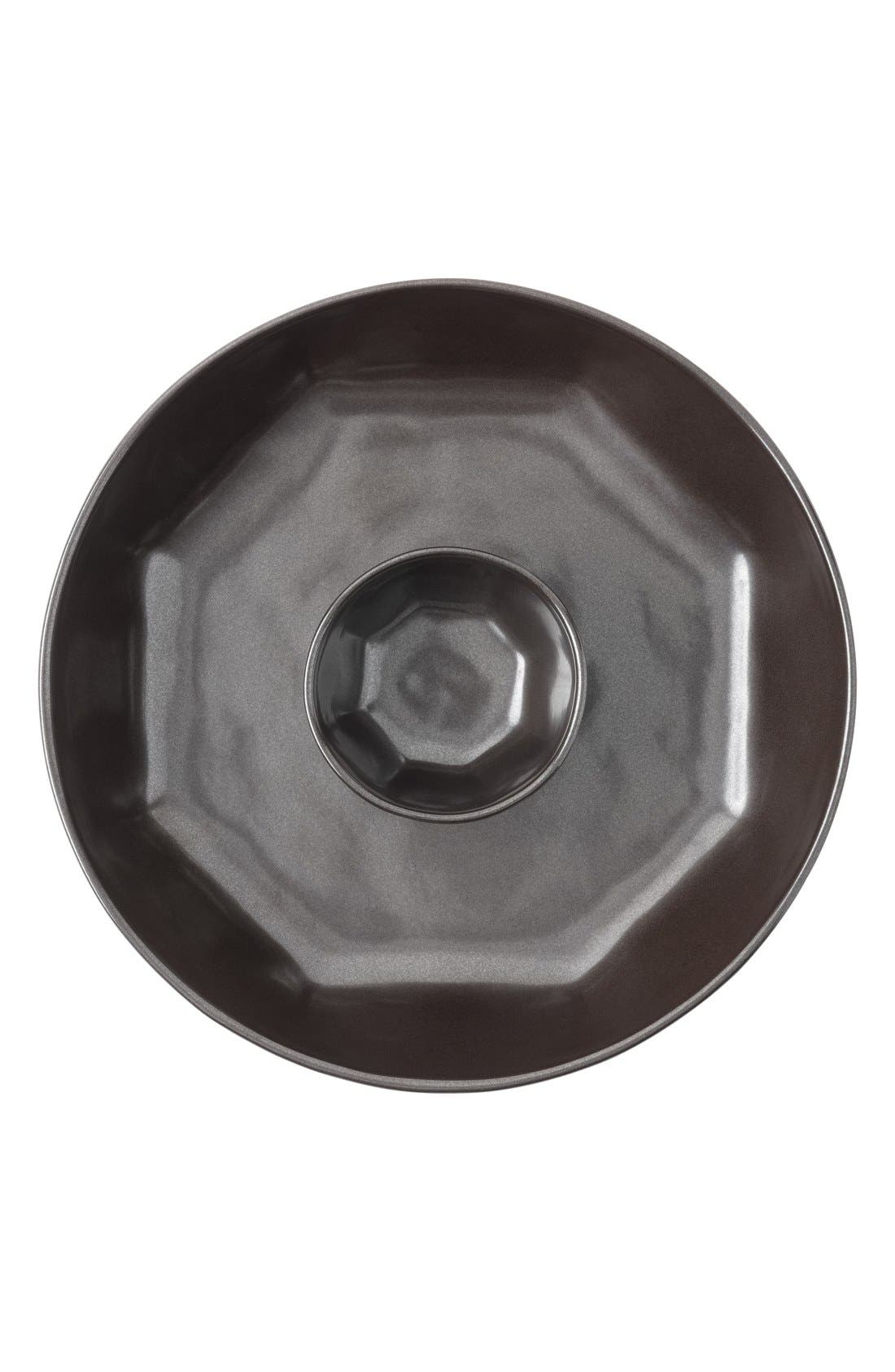 JULISKA Pewter StonewareChips & Dip Serving Bowl
