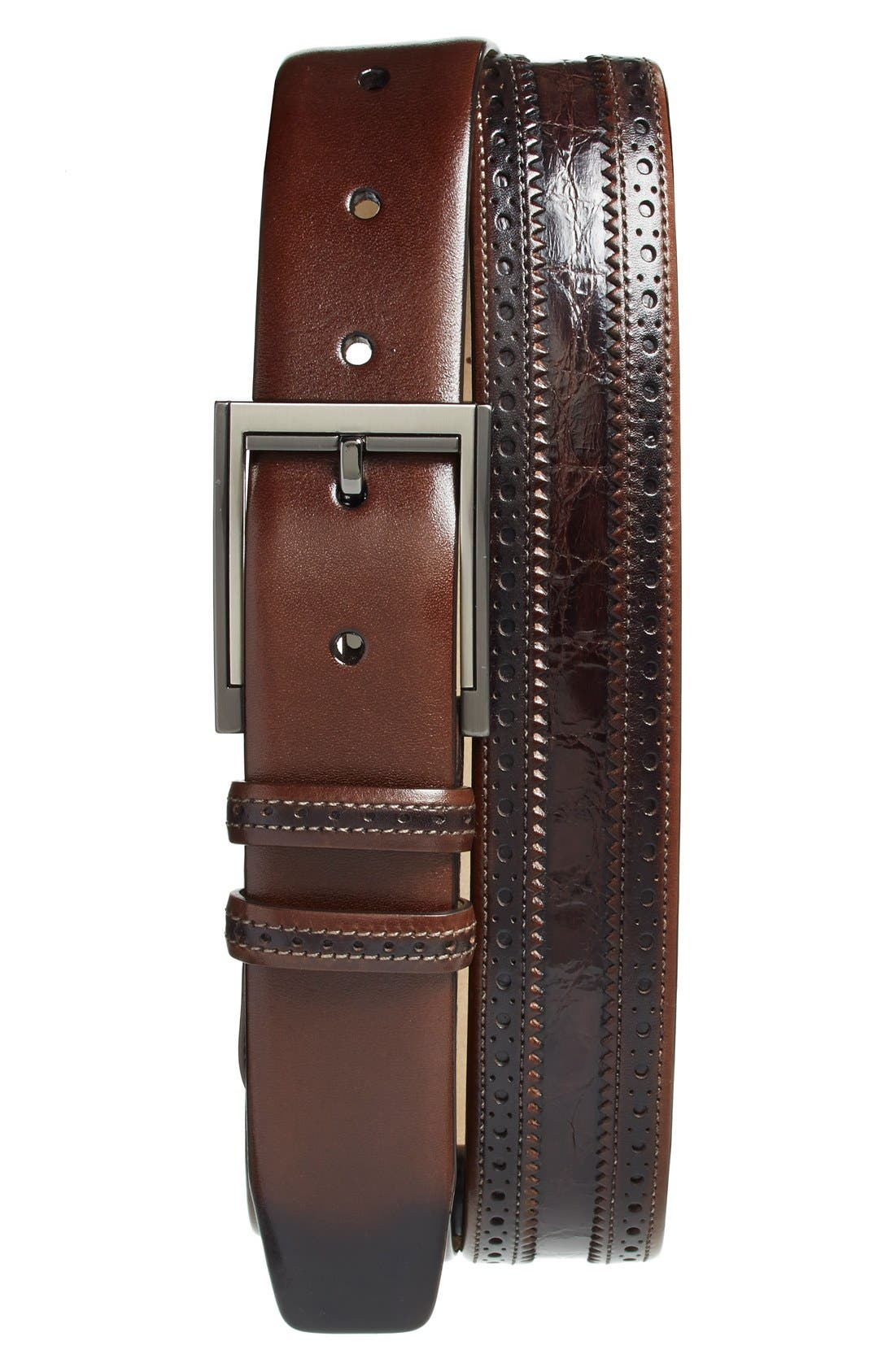 MEZLAN 'Diver' Crocodile Leather Belt