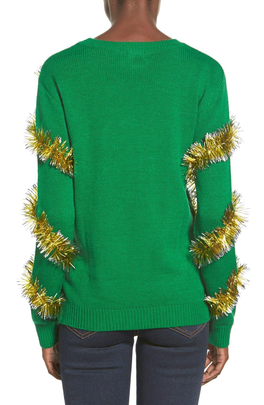 Alternate Image 2  - Ten Sixty Sherman Tinsel Ball Christmas Sweater
