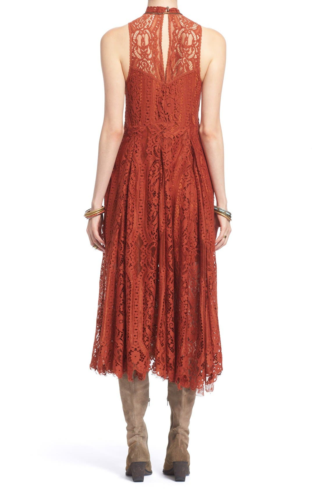 Alternate Image 2  - Free People 'Angel Rays' Trapeze Midi Dress