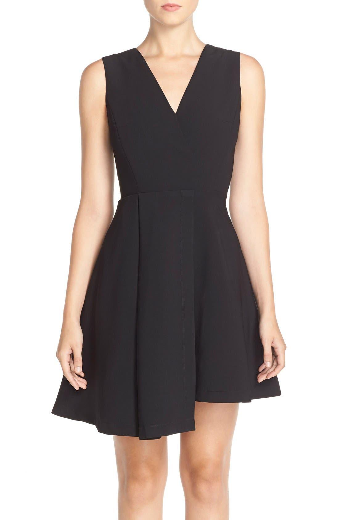 Main Image - Adelyn Rae Asymmetrical Fit & Flare Dress