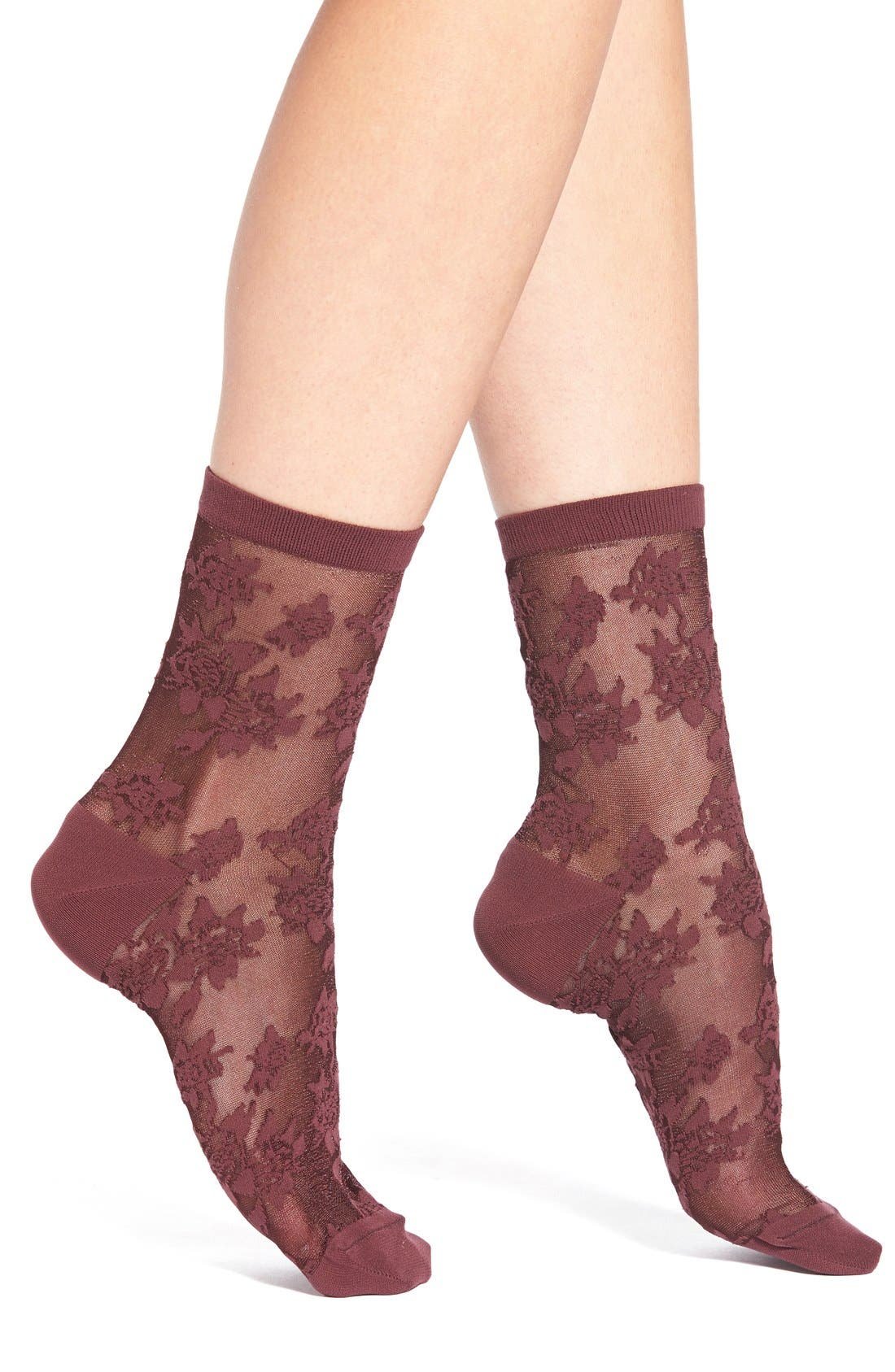 Alternate Image 1 Selected - Chelsea28 Lace Crew Socks