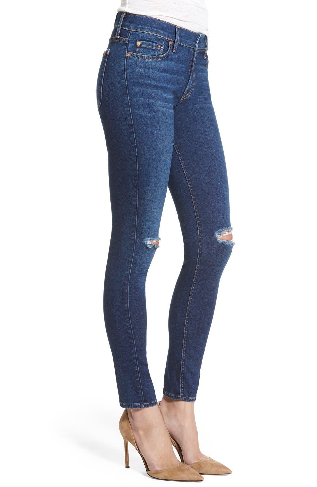 Alternate Image 3  - 7 For All Mankind® Destroyed Ankle Skinny Jeans (Stunning Seville 2)
