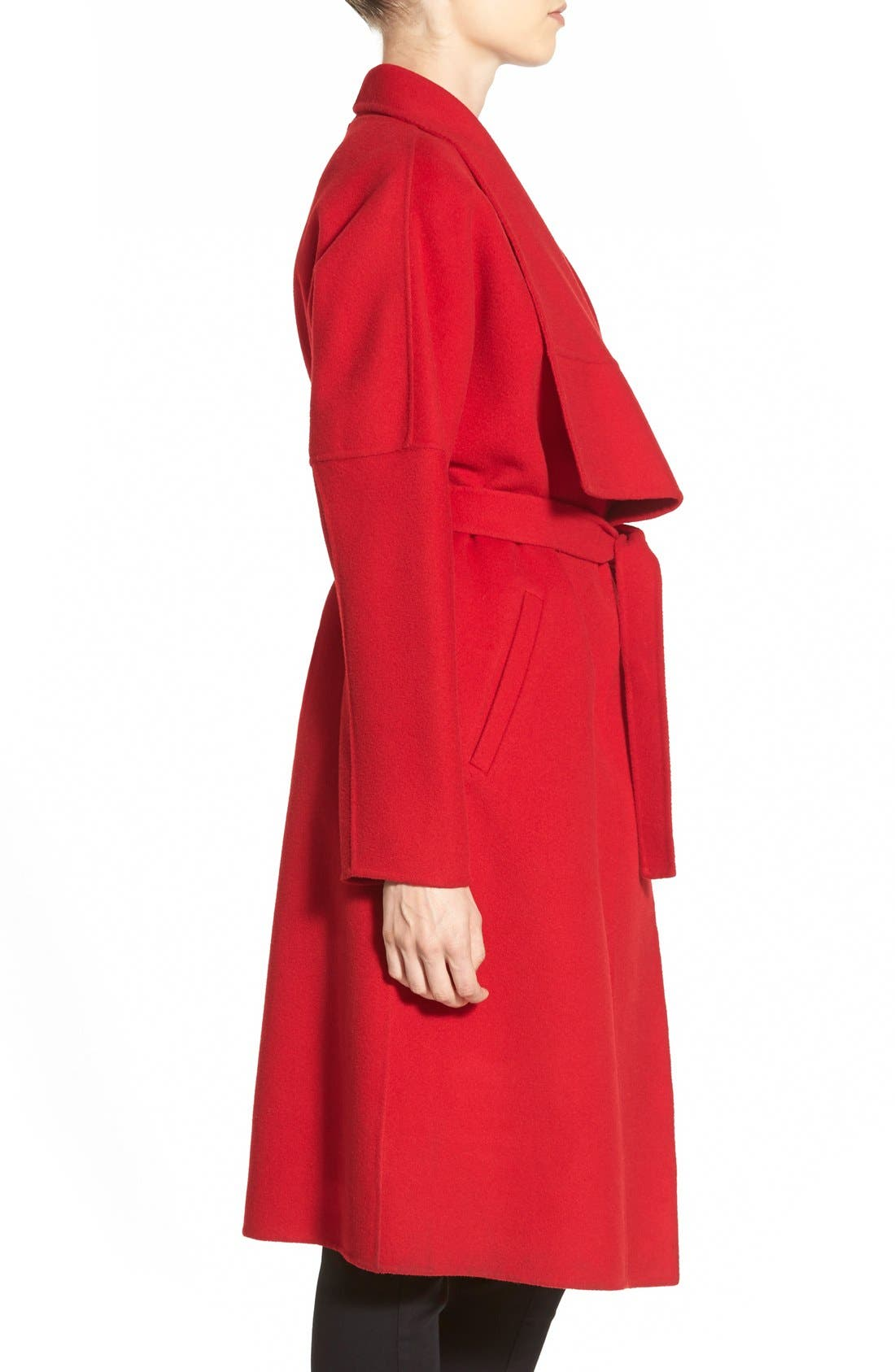 Alternate Image 4  - Badgley Mischka 'Audrey' Long Double Face Wrap Coat