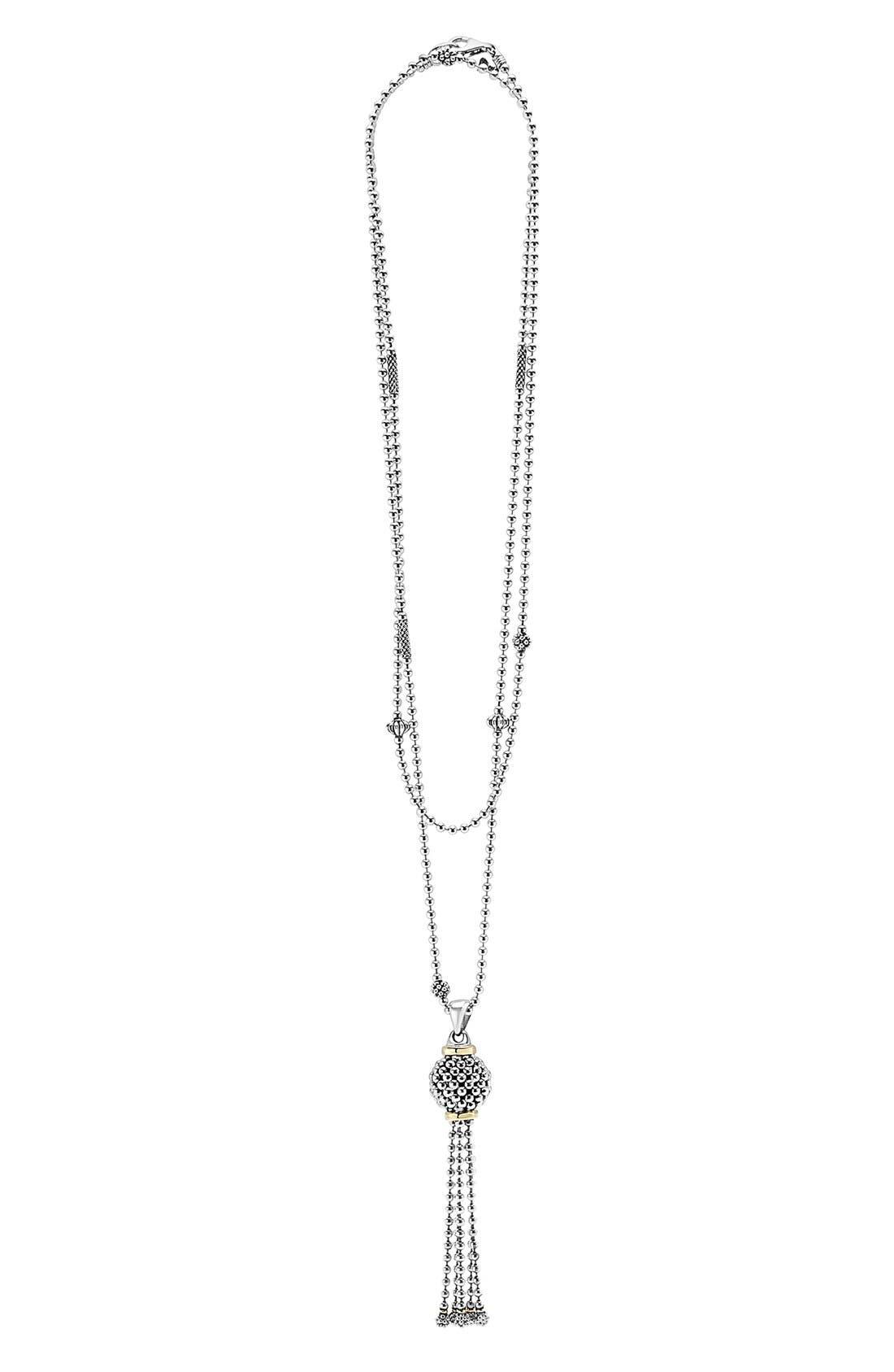 LAGOS 'Caviar Forever' Tassel Pendant Necklace