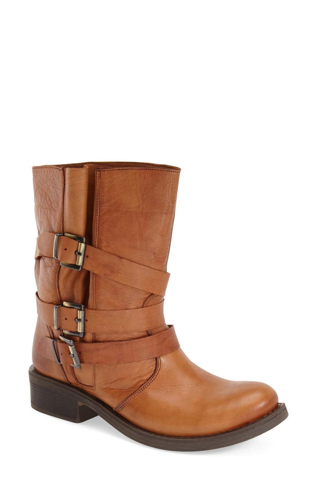 Main Image - Miz Mooz 'Clang' Leather Moto Bootie (Women)