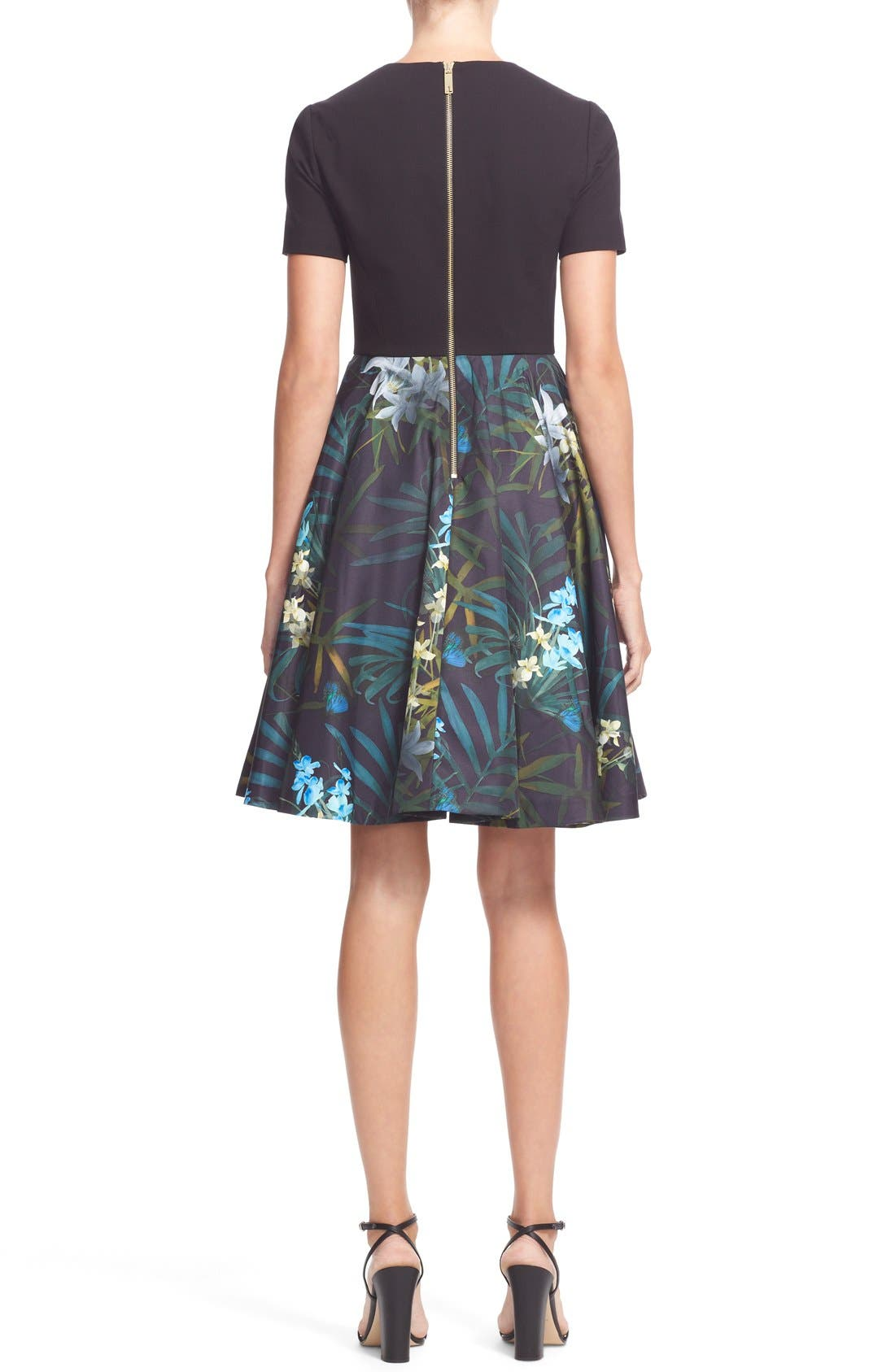 Alternate Image 2  - Ted Baker London 'Caprine' Twilight Floral Contrast Dress