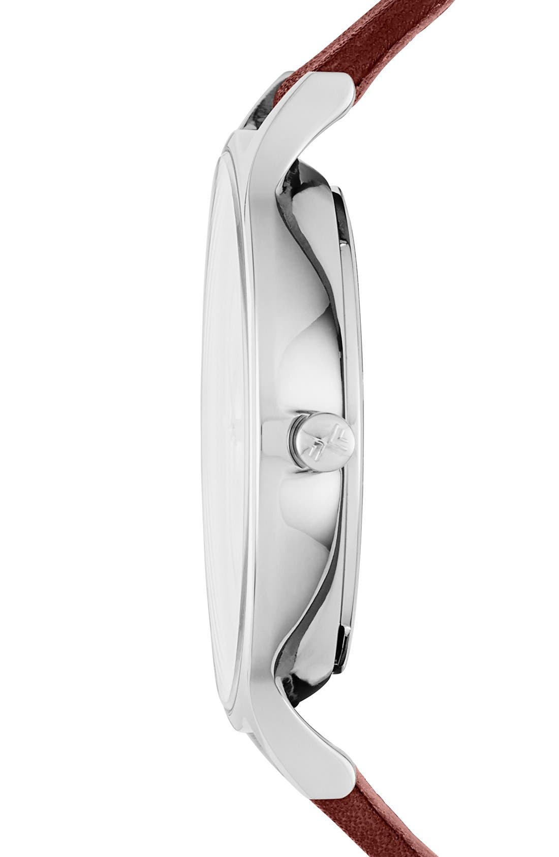 Alternate Image 2  - Skagen'Anita' Multifunction Leather Strap Watch, 36mm