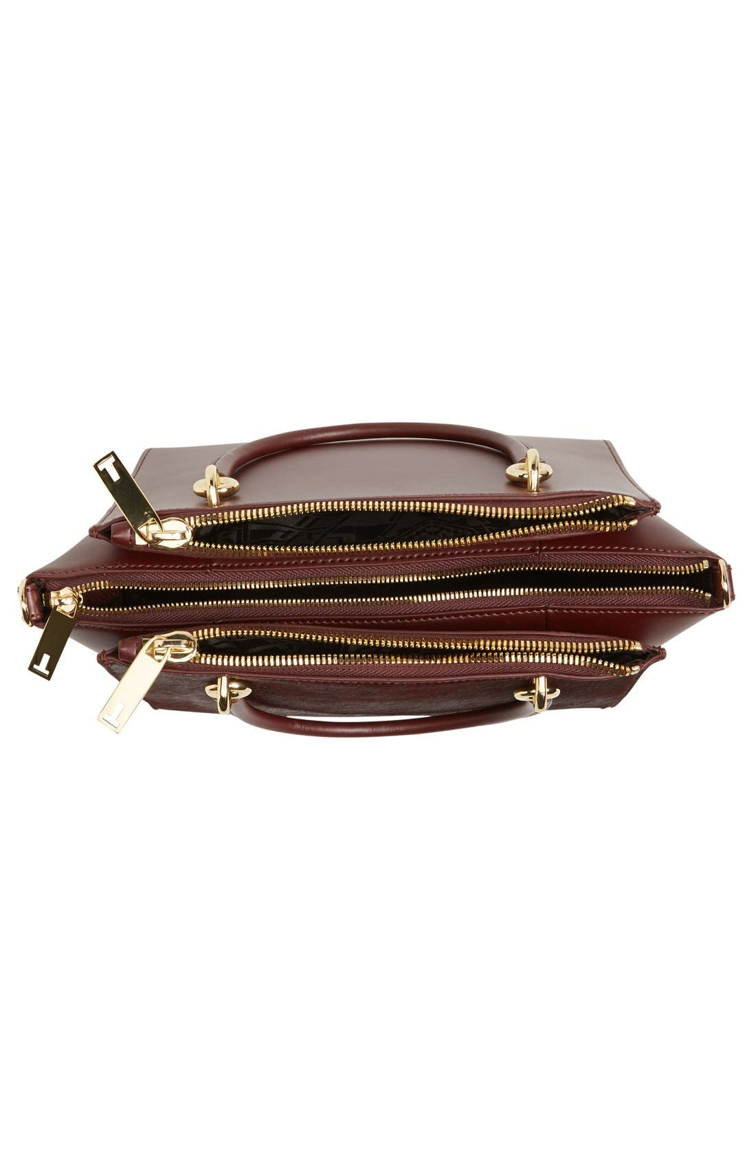 Alternate Image 4  - Ted Baker London 'Haylie' Leather & Genuine Calf Hair Crossbody Tote Bag