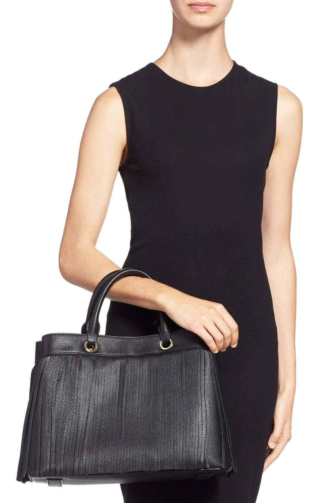 Alternate Image 2  - MillyFringed Leather Tote