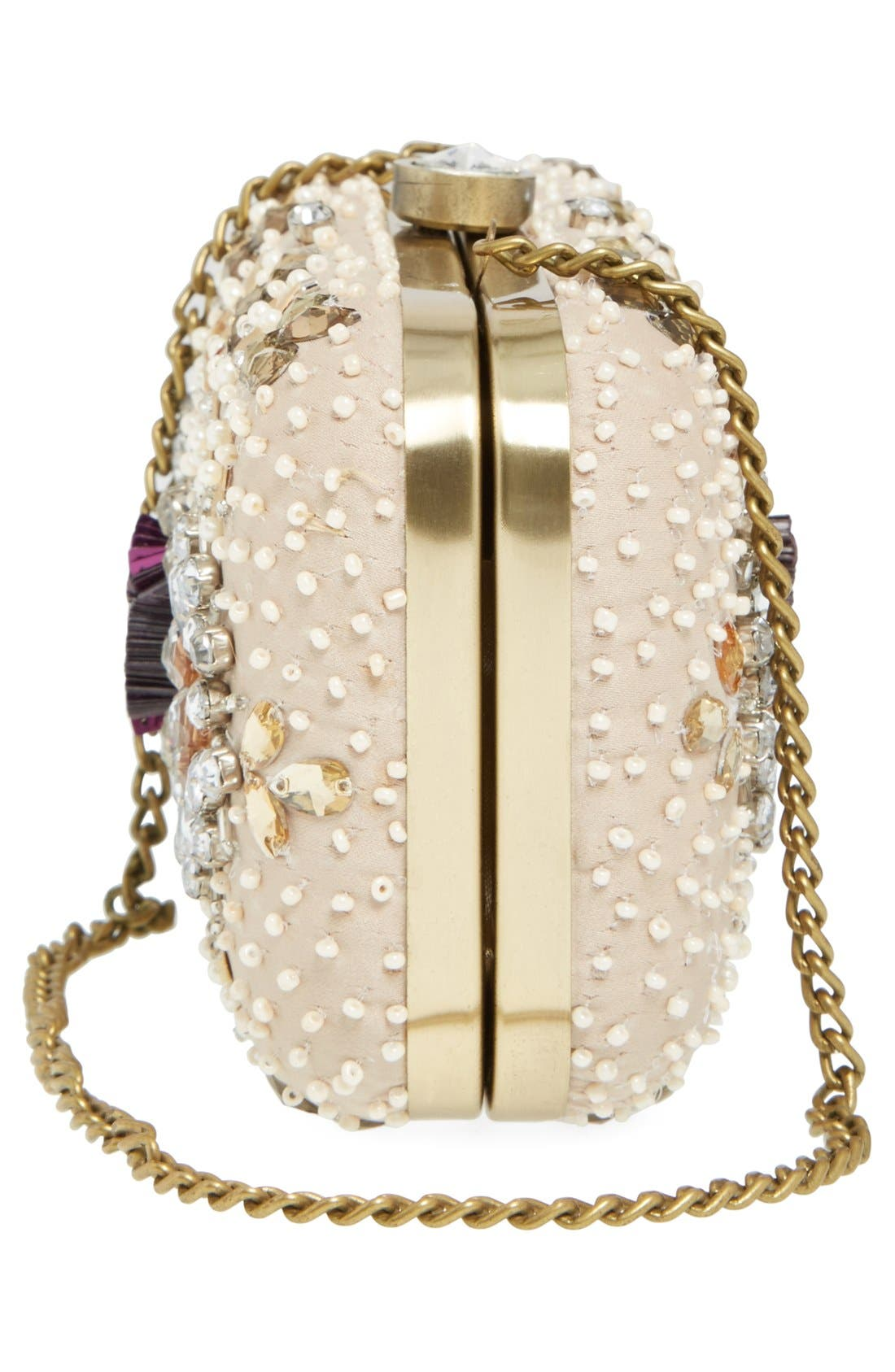 Alternate Image 5  - Natasha Couture Bead & Crystal Floral Clutch