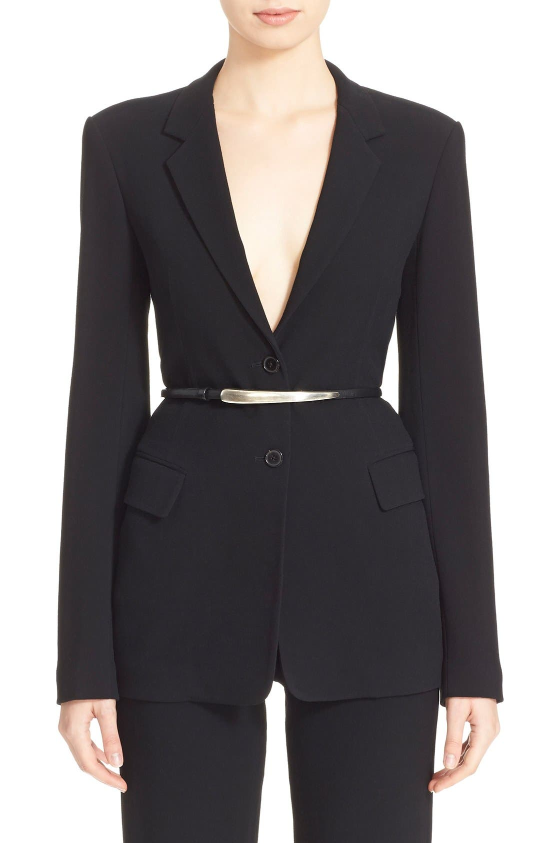 Alternate Image 1 Selected - Donna Karan New York Element Hardware Belted Blazer
