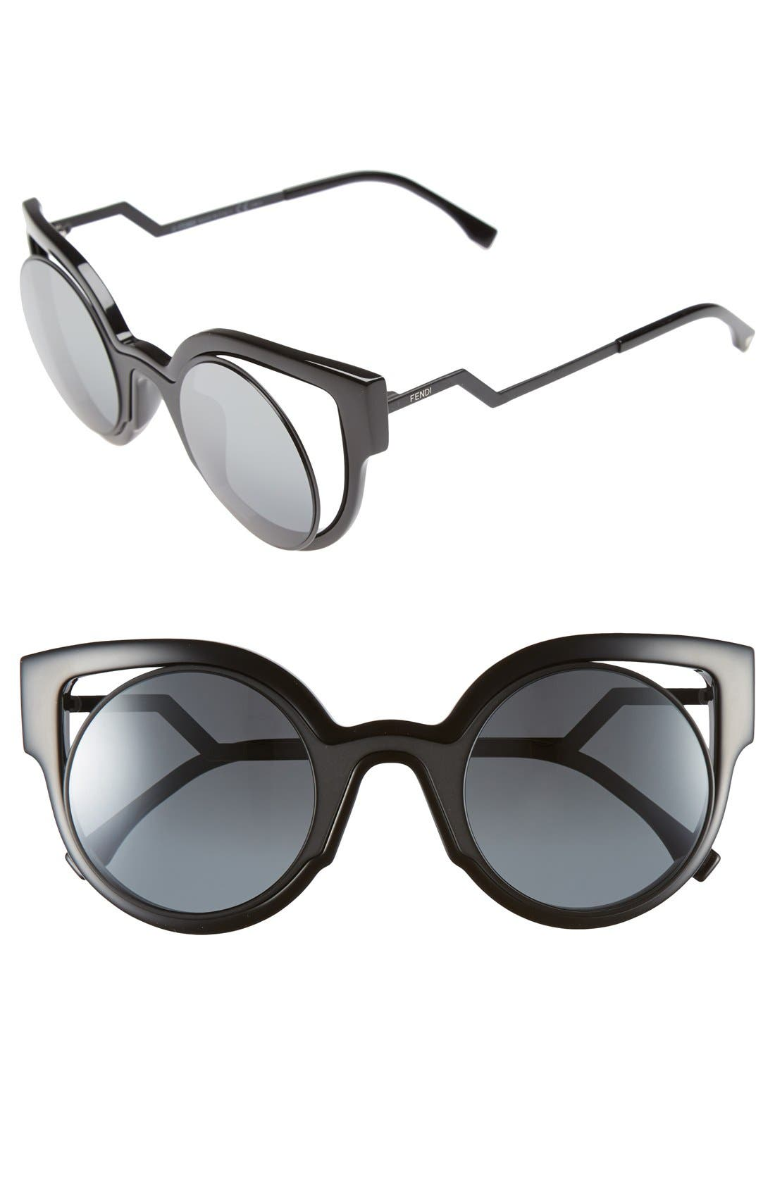 FENDI 'Orchidea' 49mm Cat Eye Sunglasses