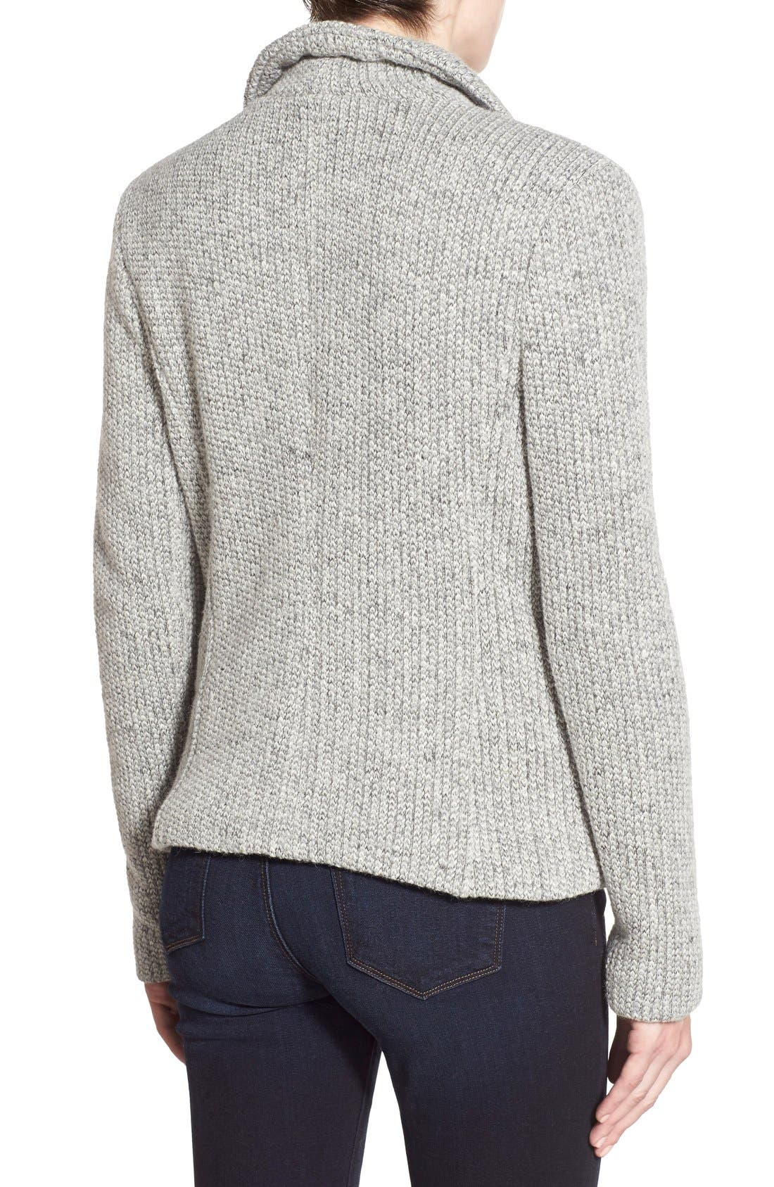 Alternate Image 2  - cupcakes and cashmere 'Rue' Drape Collar Knit Jacket