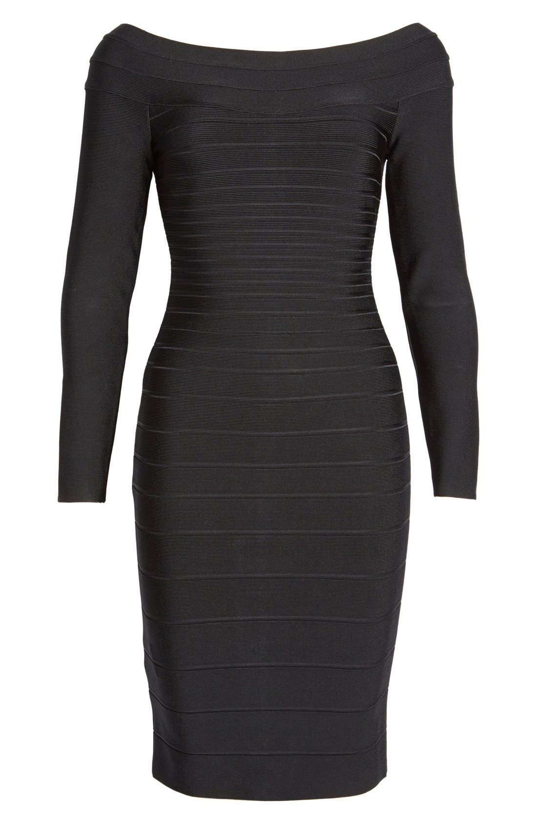 Alternate Image 4  - Herve Leger Off Shoulder Bandage Dress