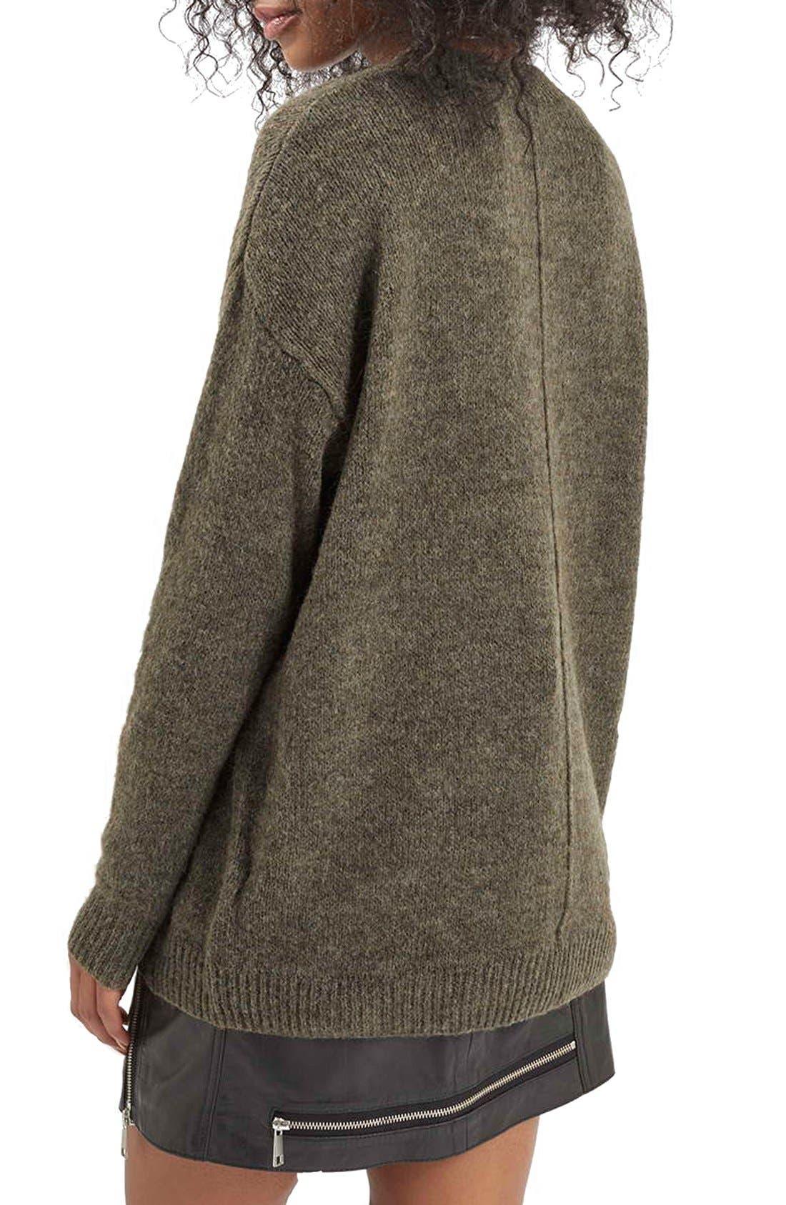 Alternate Image 2  - Topshop Longline Pullover Sweater