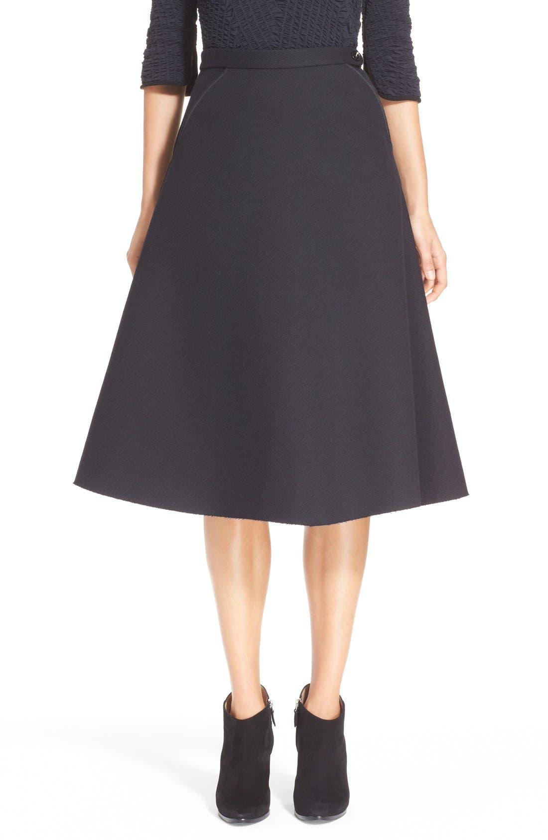 Alternate Image 1  - ELLERY 'Saturn' Flared Wool Blend Skirt
