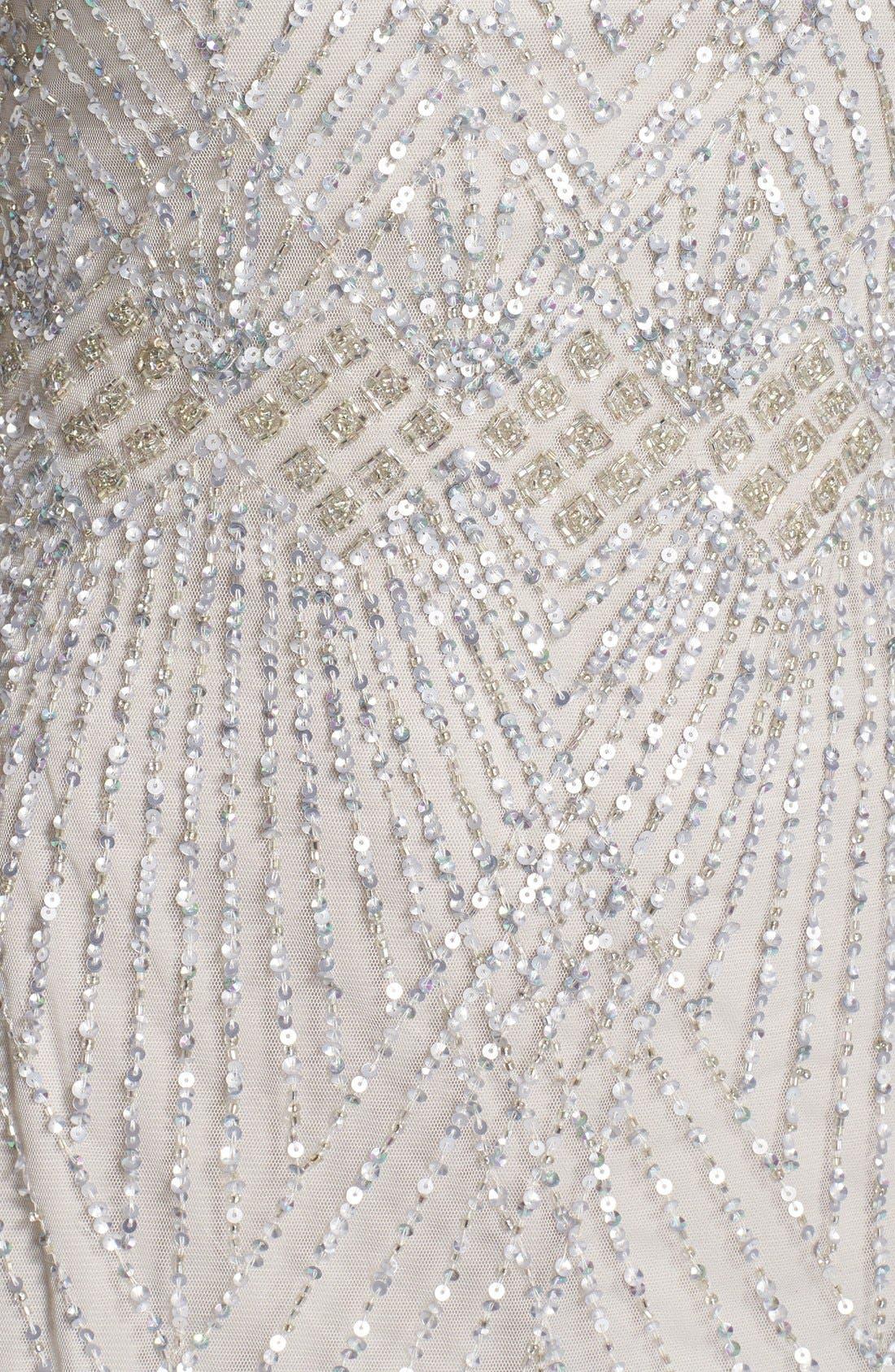 Alternate Image 6  - Aidan Mattox Embellished Mesh Sheath Dress