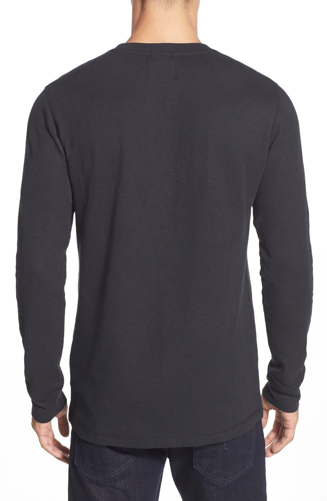 Alternate Image 2  - Nordstrom Men's Shop Waffle Knit Long Sleeve T-Shirt