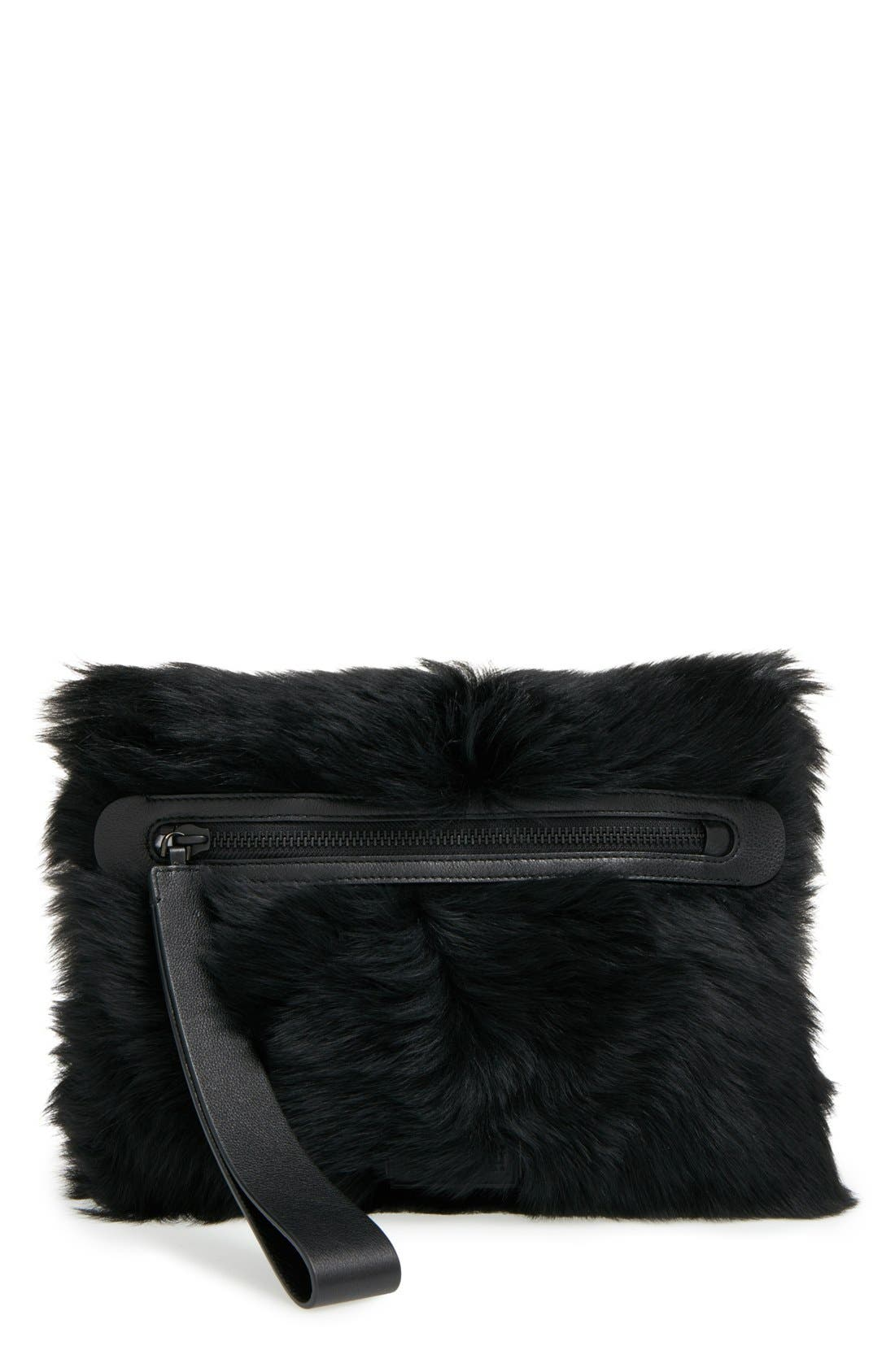 Alternate Image 1 Selected - MARC BY MARC JACOBS Shearling Square Clutch
