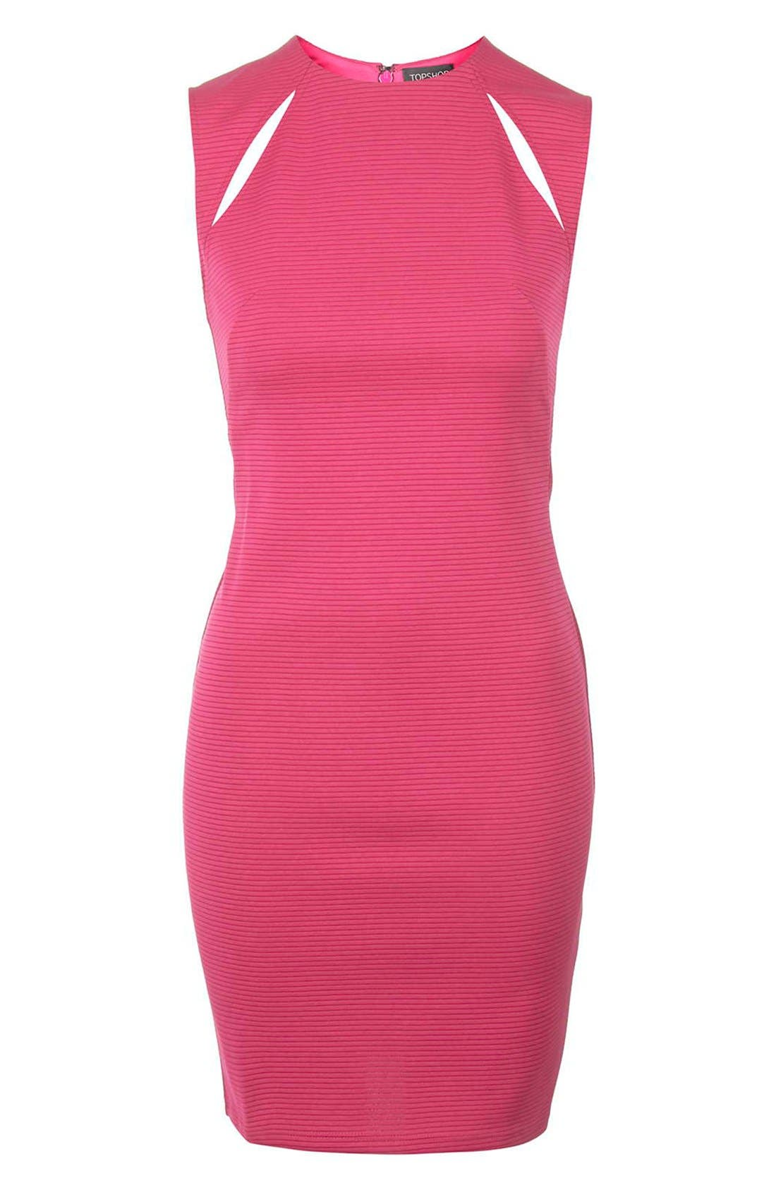 Alternate Image 5  - Topshop Ribbed Cutout Body-Con Dress