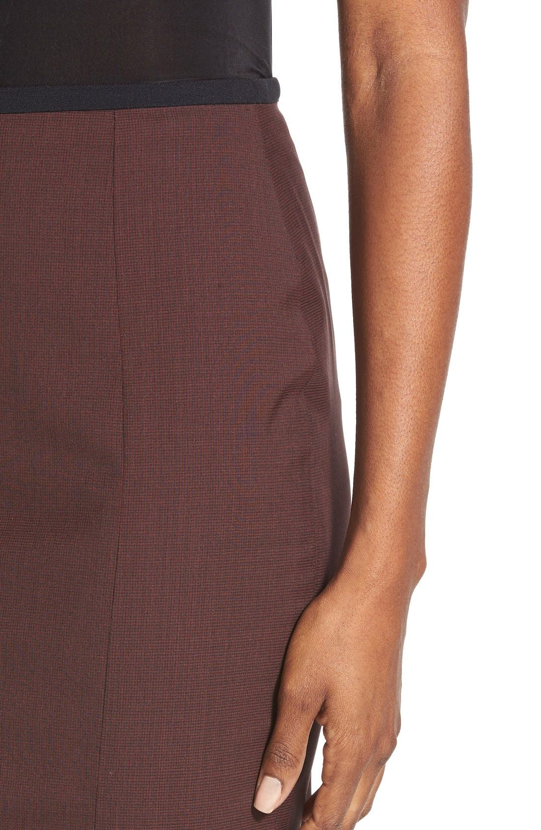 Alternate Image 4  - BOSS 'Vabina' Wool Pencil Skirt
