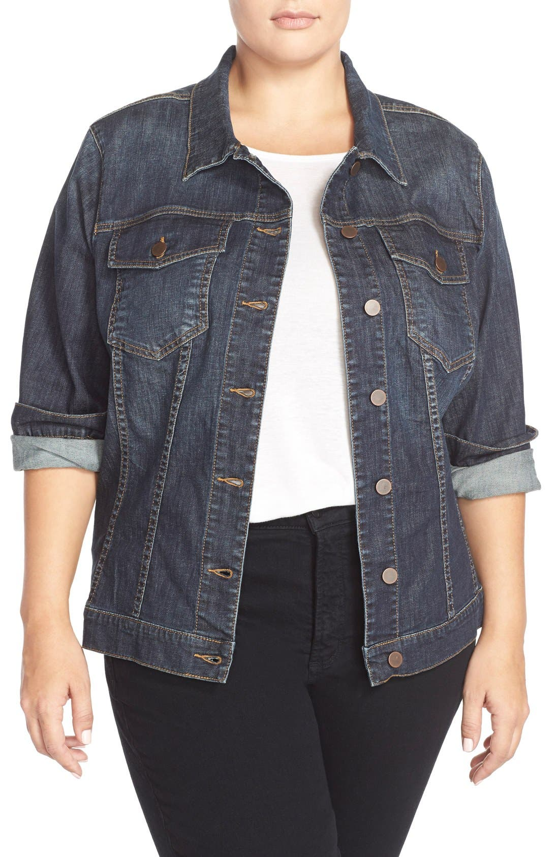 Main Image - KUT from the Kloth Denim Jacket (Plus Size)
