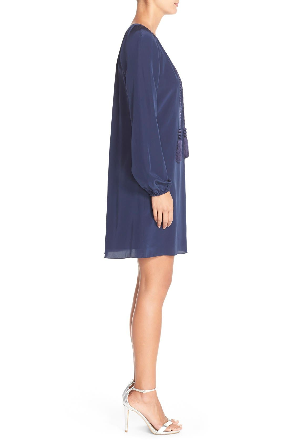 Alternate Image 3  - Lilly Pulitzer® 'Roslyn' Embroidered Silk Tunic Dress