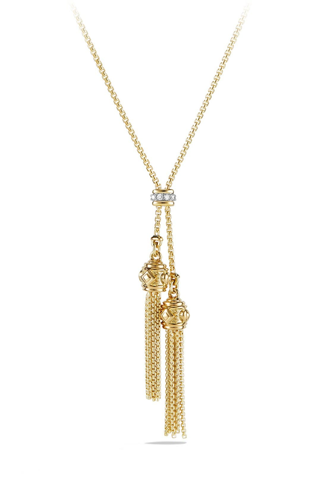 David Yurman 'Renaissance' Tassel Necklace with 18K Gold and Diamonds