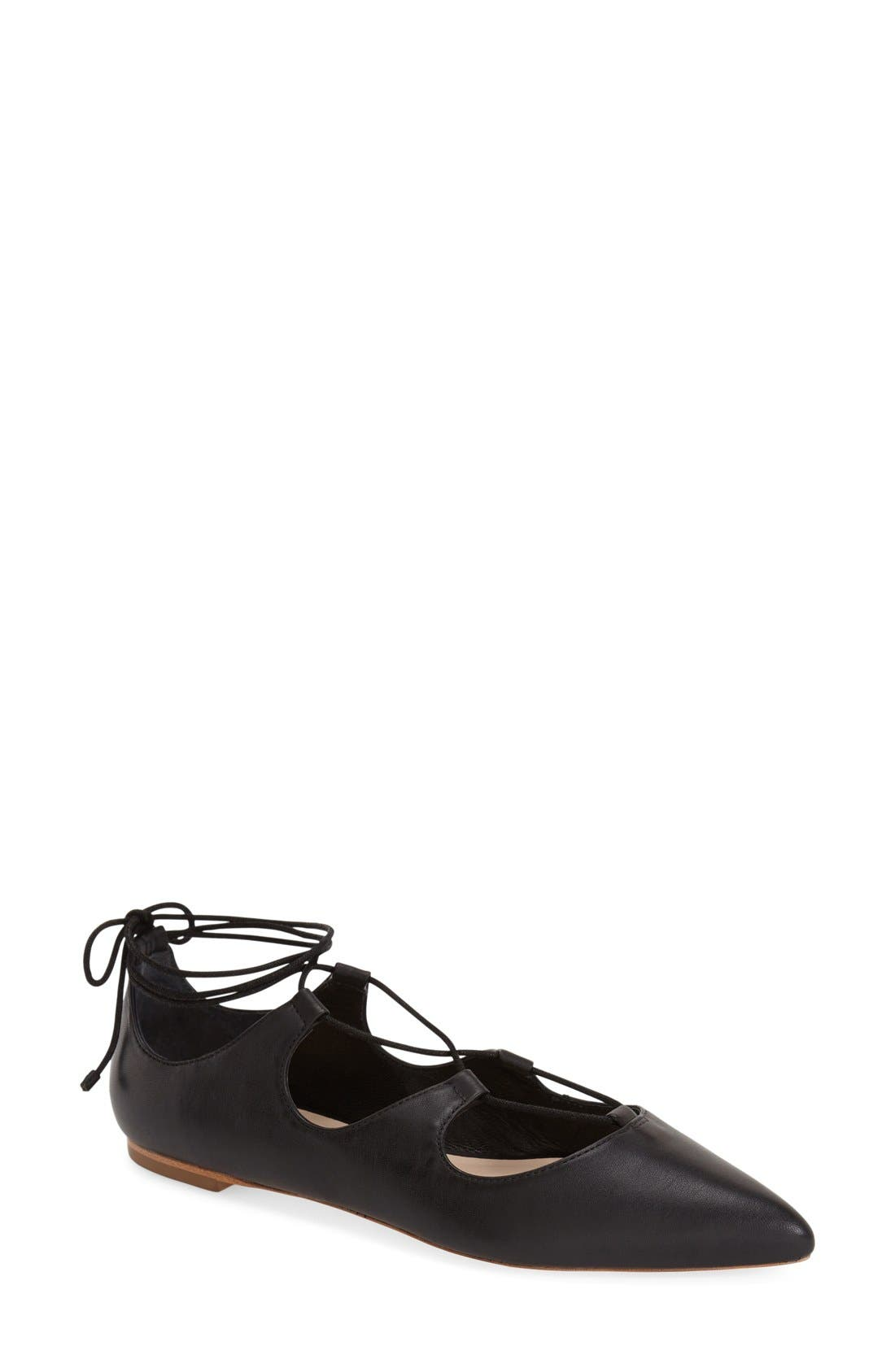 Alternate Image 1 Selected - Loeffler Randall 'Ambra' Pointy Toe Ghillie Flat (Women)