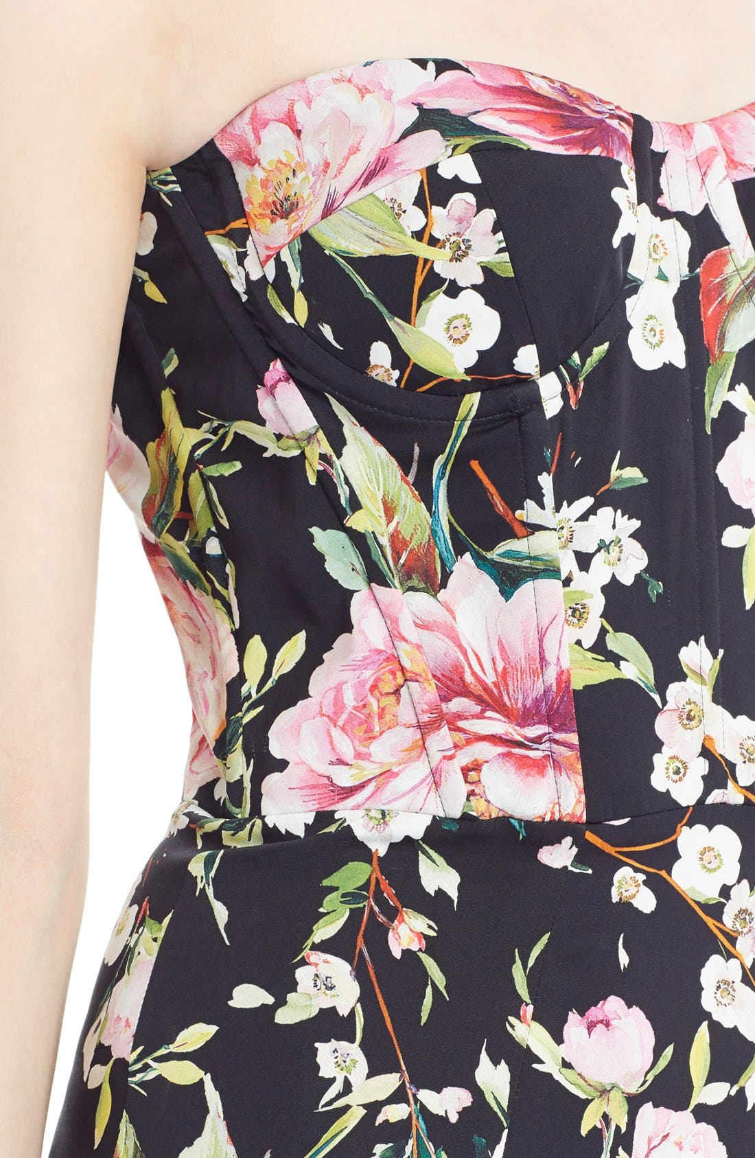 Alternate Image 5  - Dolce&Gabbana Floral Print Strapless Charmeuse Gown