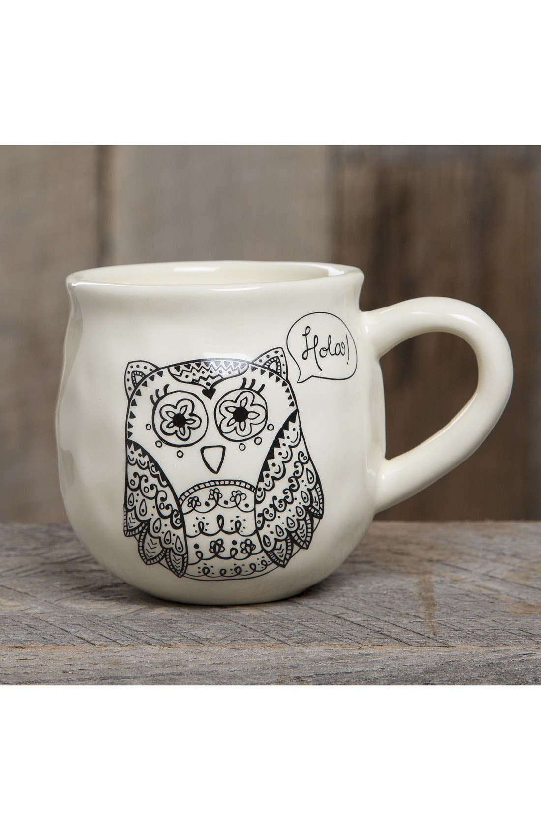 Alternate Image 2  - Natural Life 'Happy Owl' Ceramic Mug